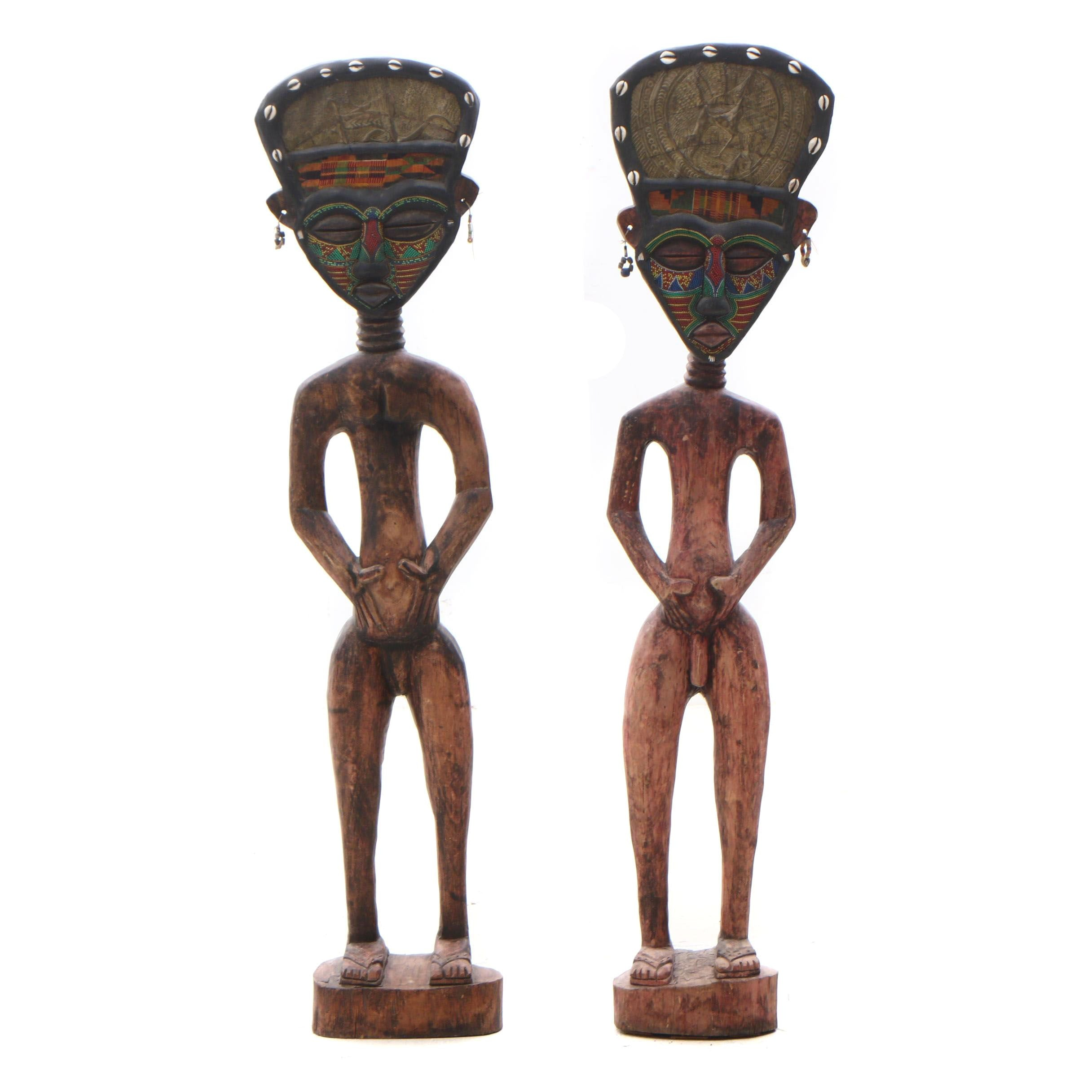 Carved African Style Fertility Figurines, Contemporary