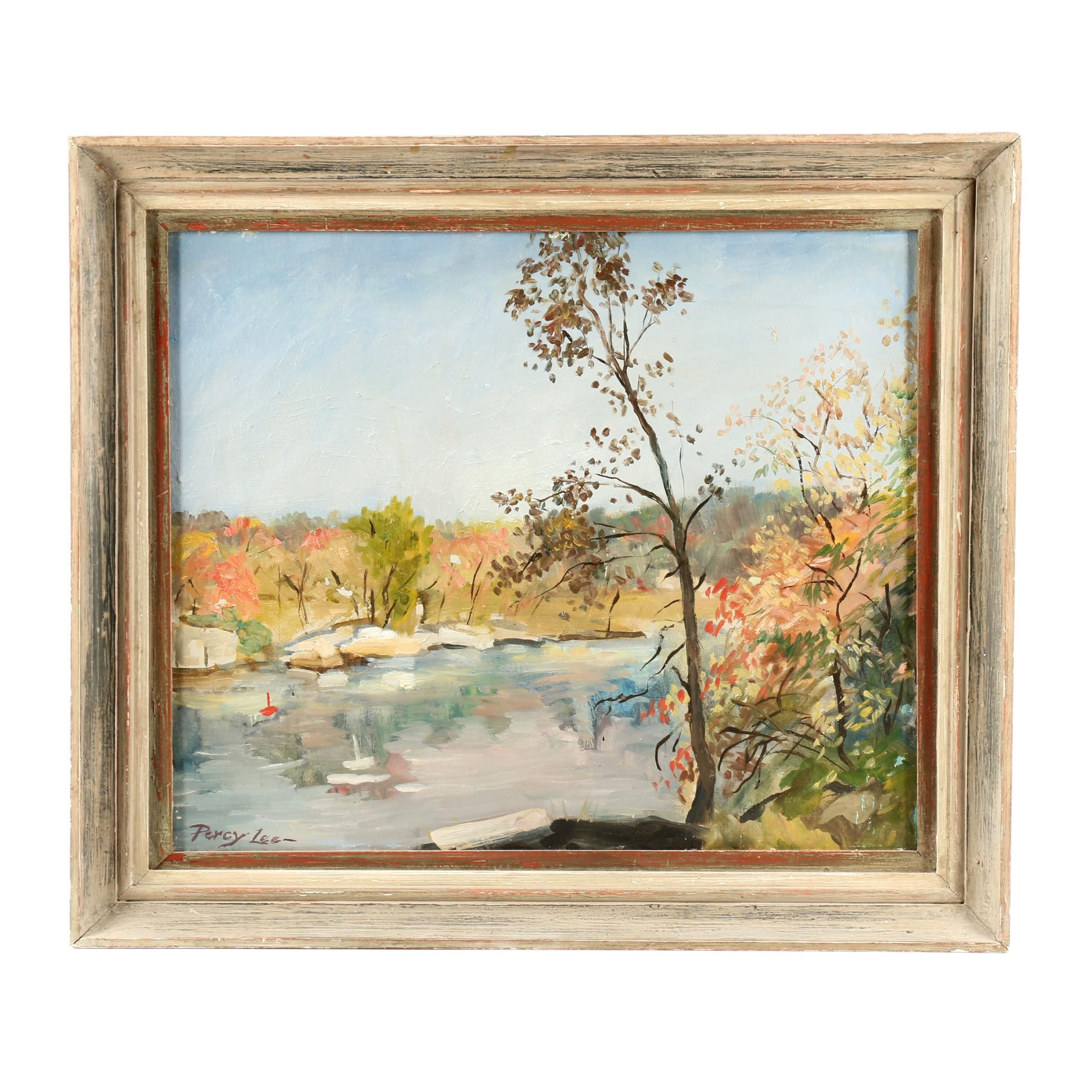 Percy Lee Mid 20th Century Landscape Oil Painting