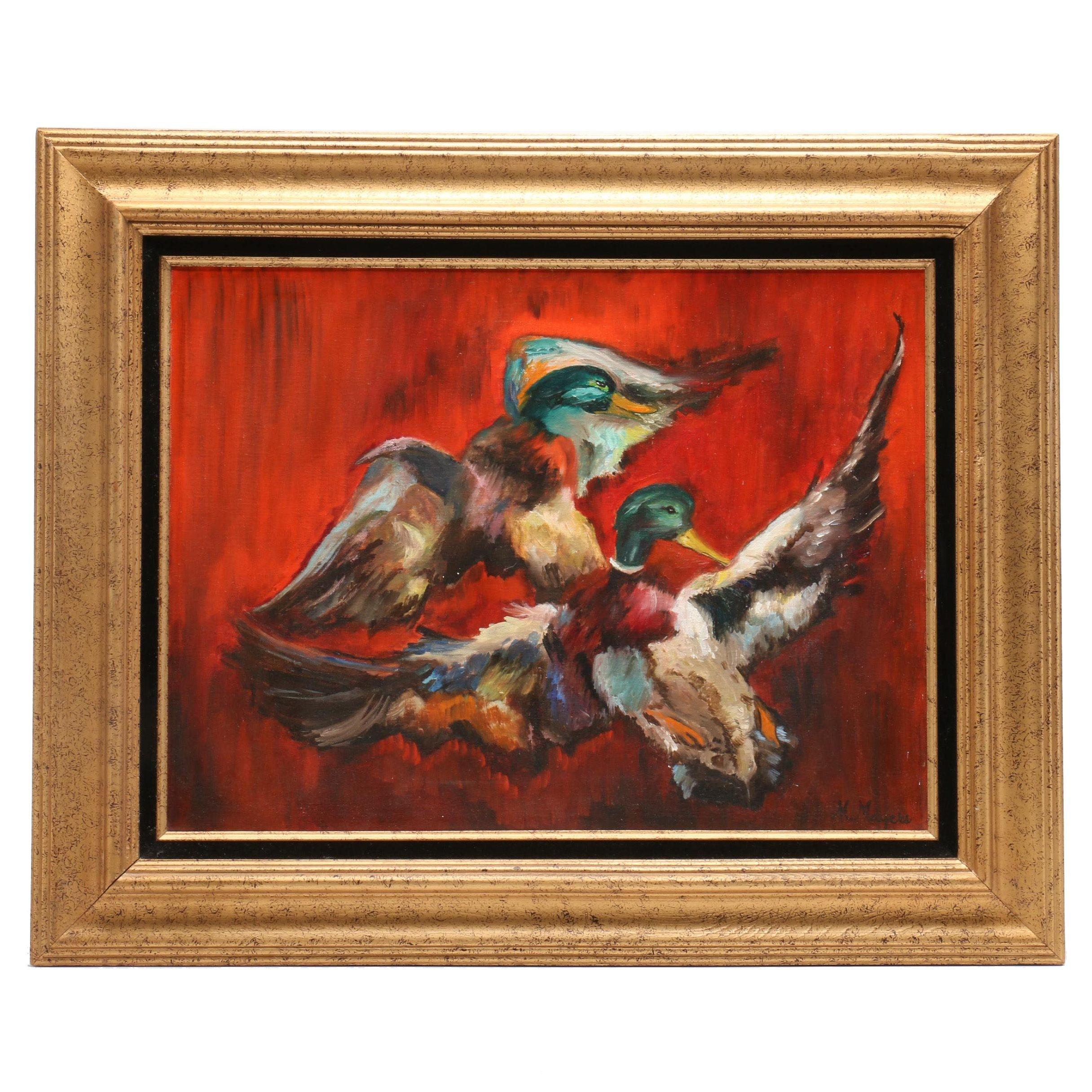 Wood Duck Acrylic Painting
