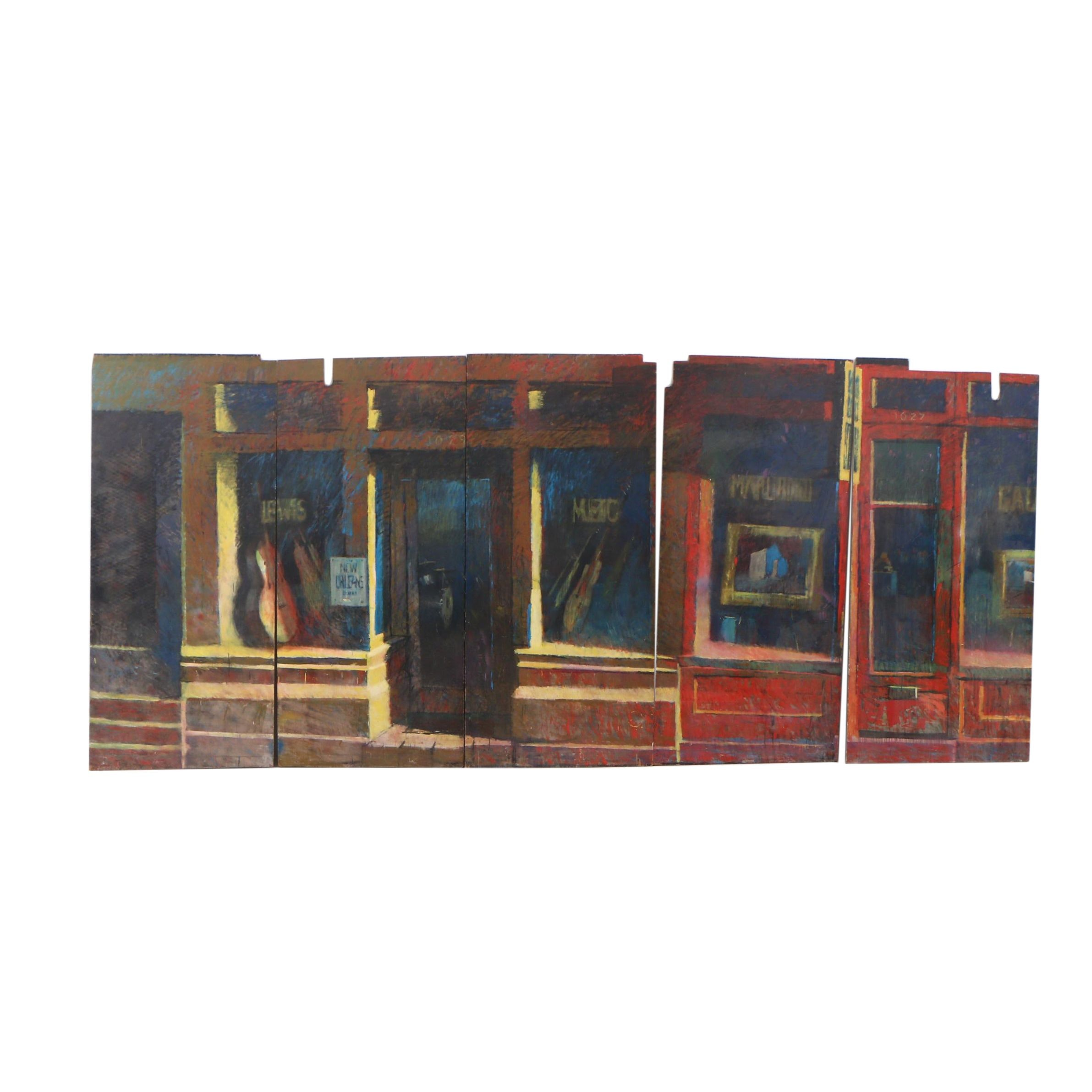 Greg Storer Multi-Panel Storefront Mural Painting