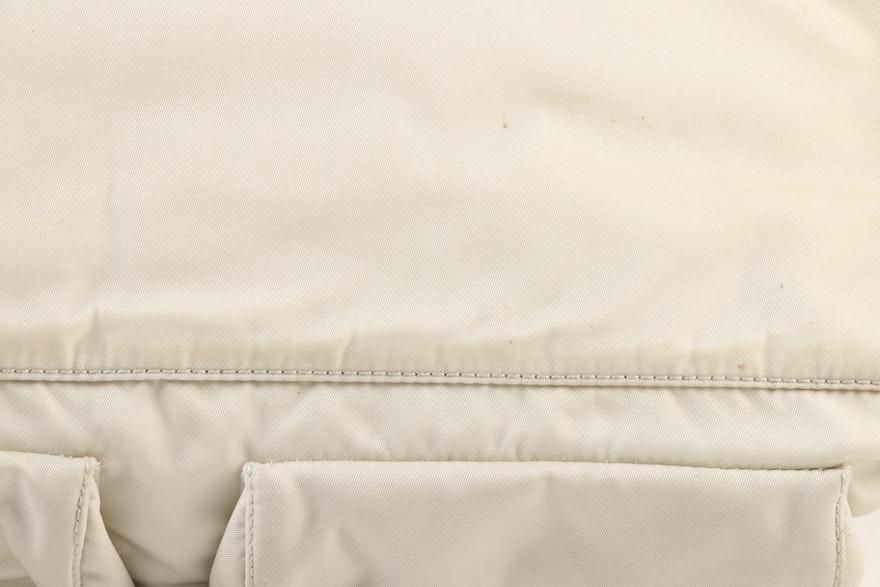 Prada Side-Cinch Two-Tone Shoulder Bag In Nylon And