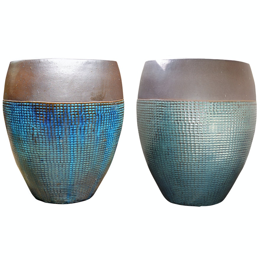 Glazed Earthenware Patio Planters