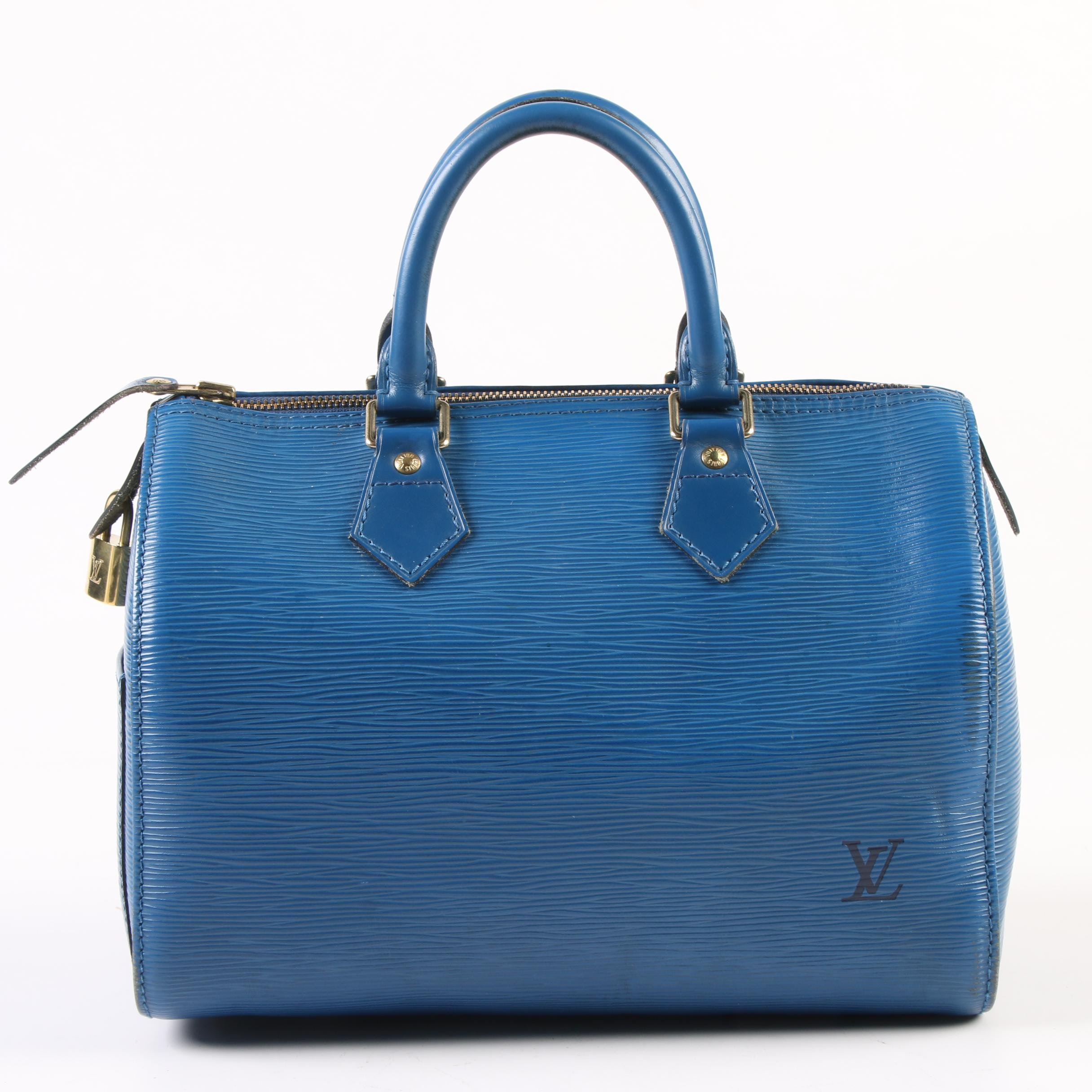 Louis Vuitton Paris Speedy 25 in Toledo Blue Epi Leather