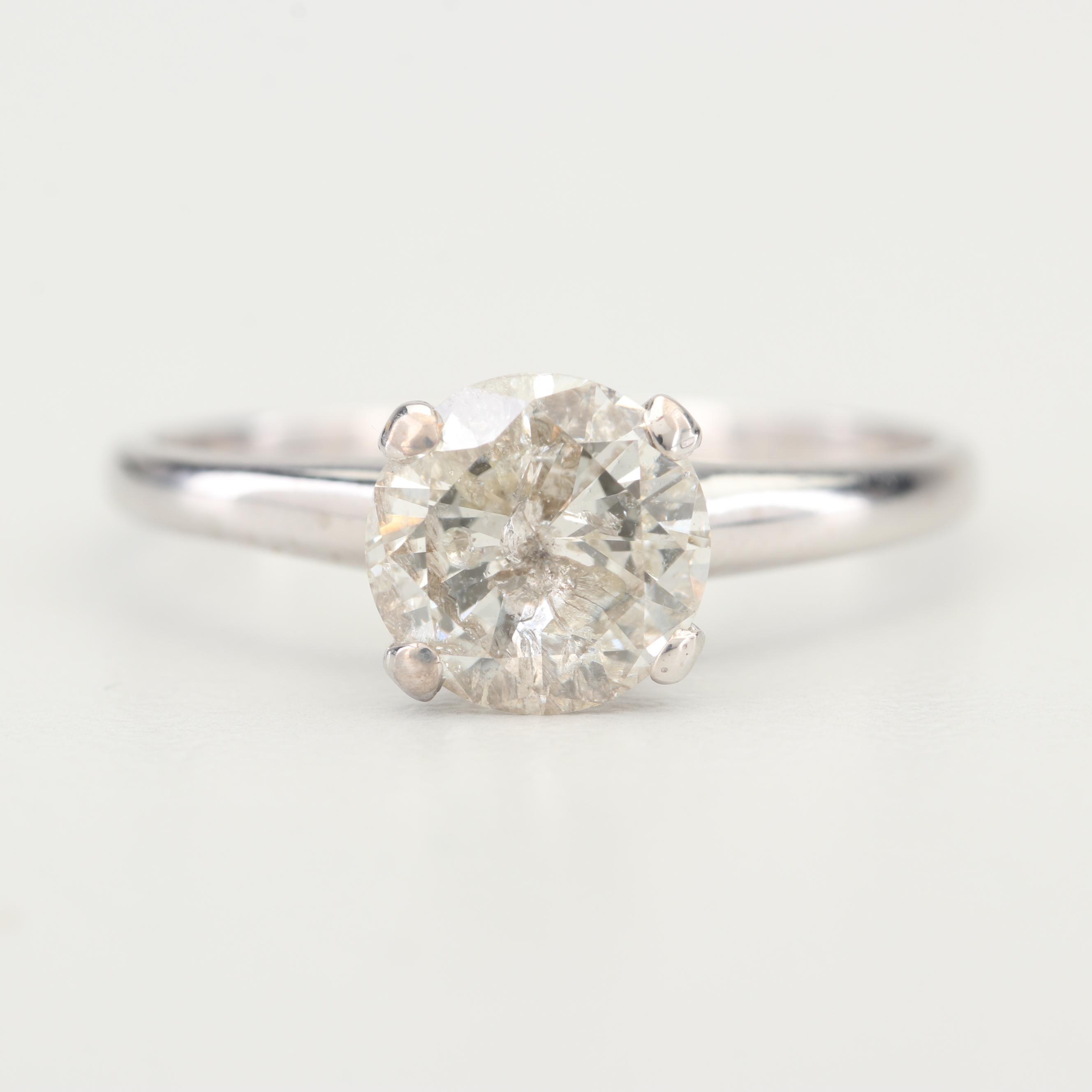 Platinum and 1.56 CT Diamond Solitaire Ring