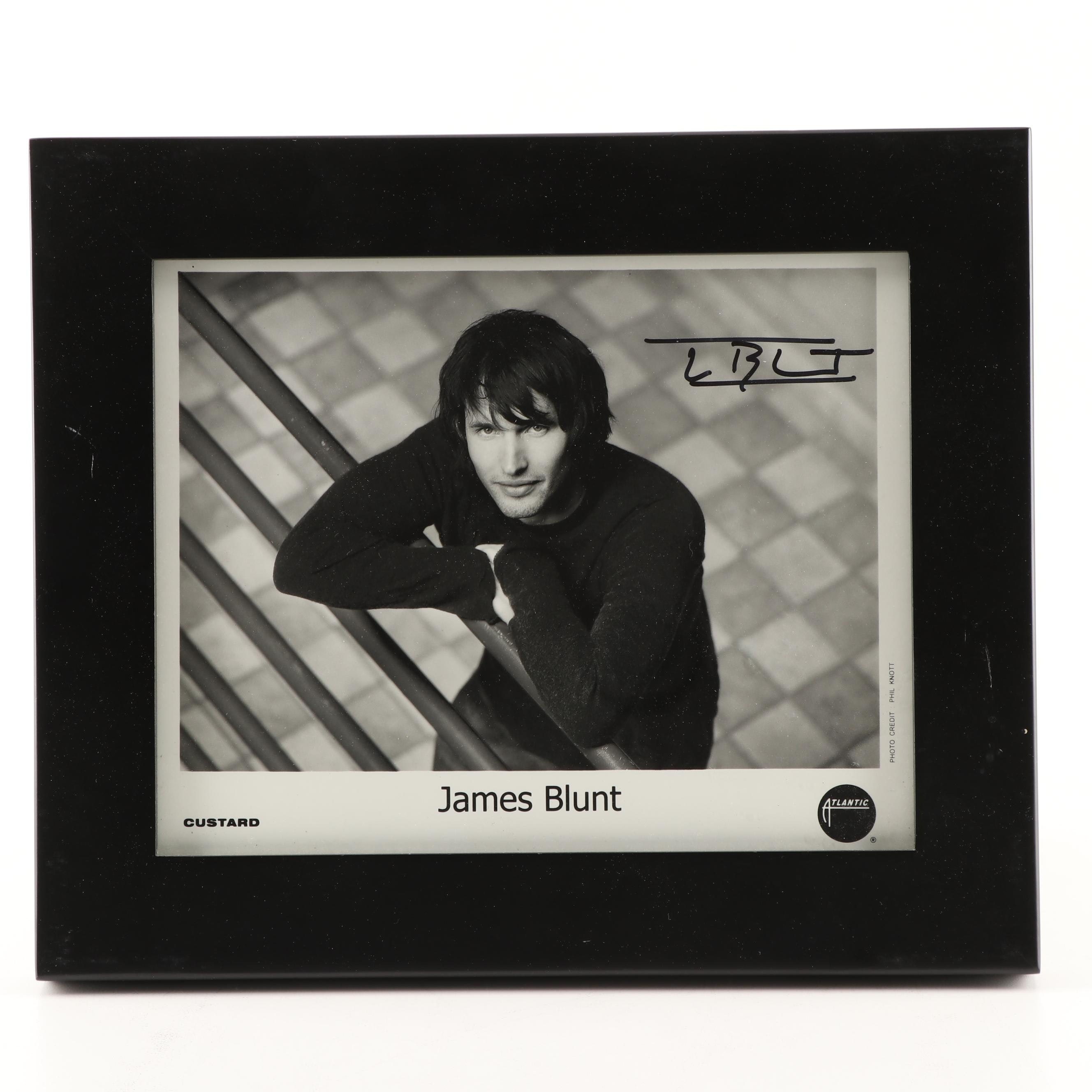 Musician James Blunt Signed Photograph