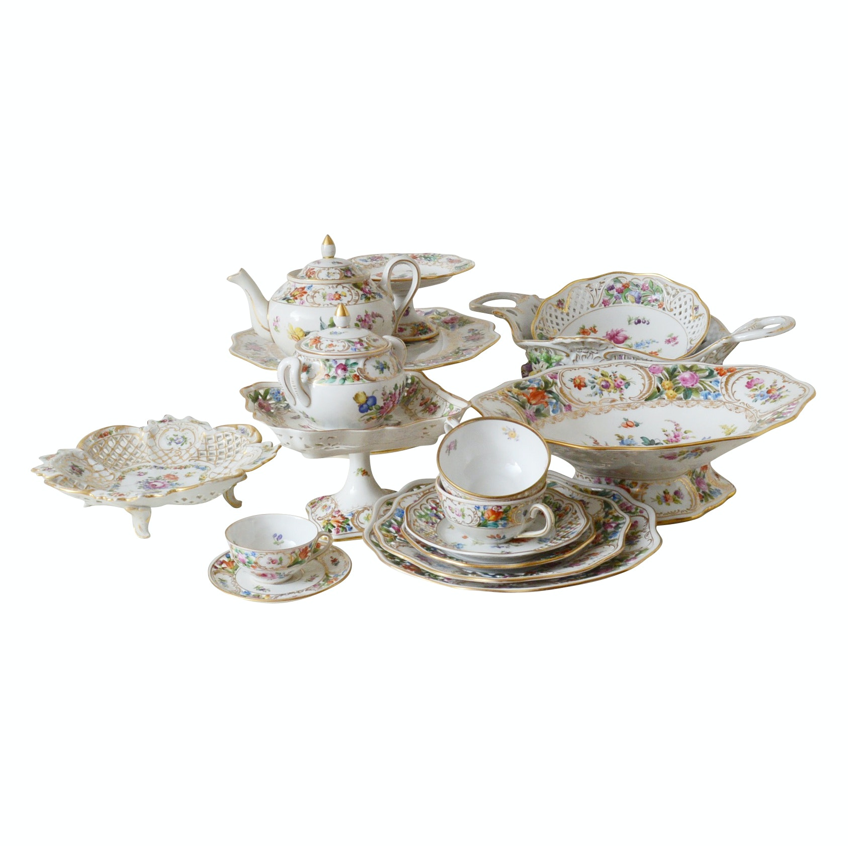 Collection of Mixed China by Dresden and Schumann