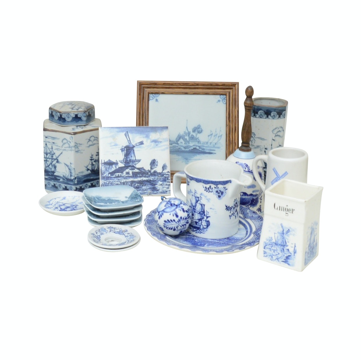 Blue and White Vases, Tableware, and More