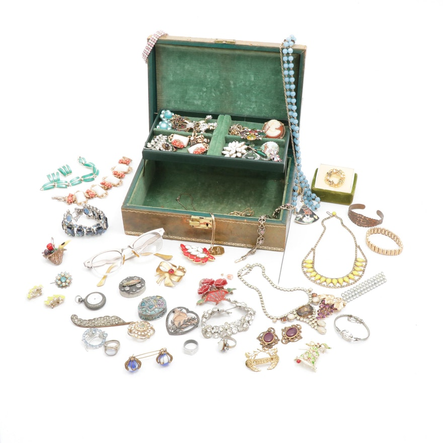 Costume Jewelry Including Weiss, Sarah Coventry, Karu Arke and More, Vintage