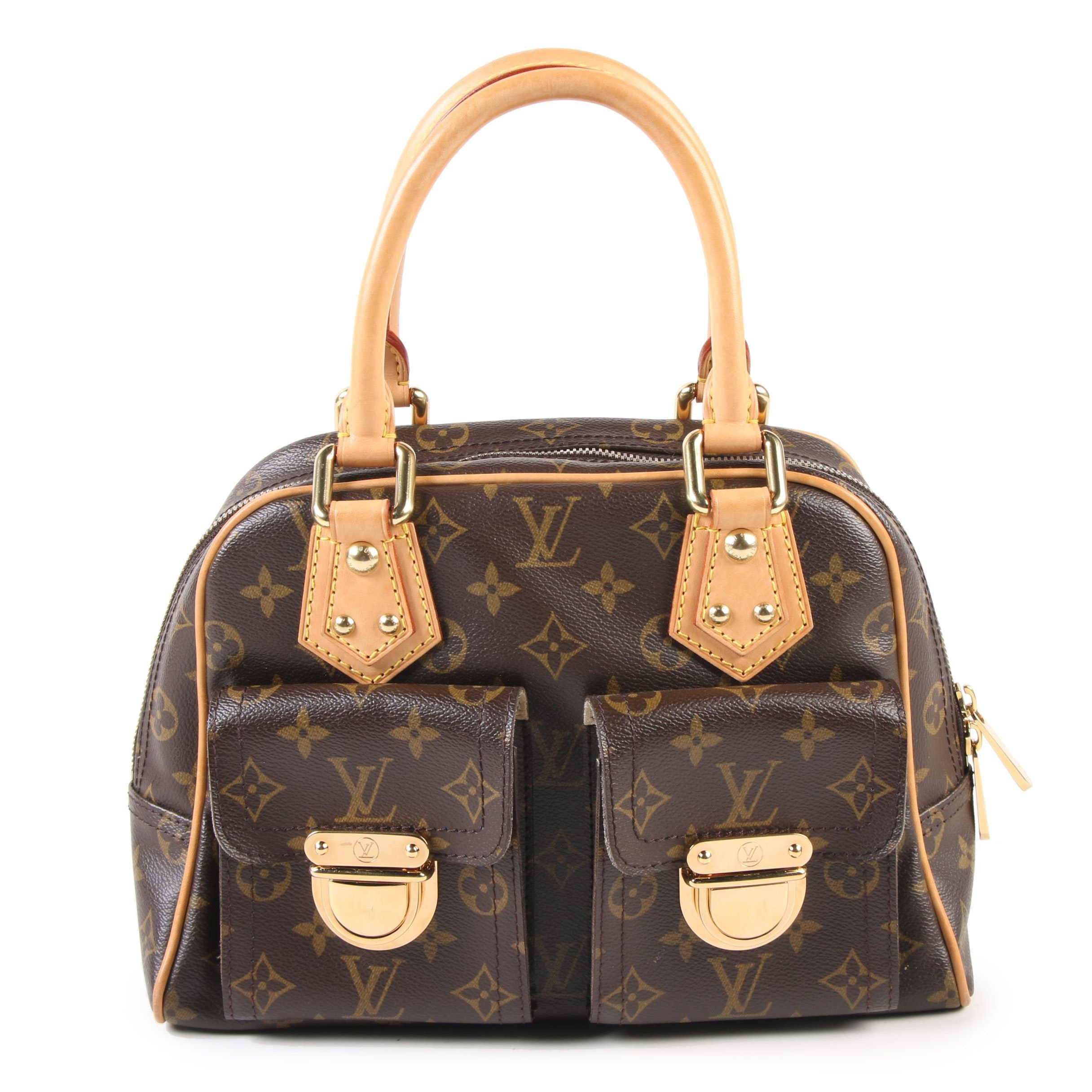 Louis Vuitton Manhattan PM Bag in Monogram Canvas and Vachetta Leather