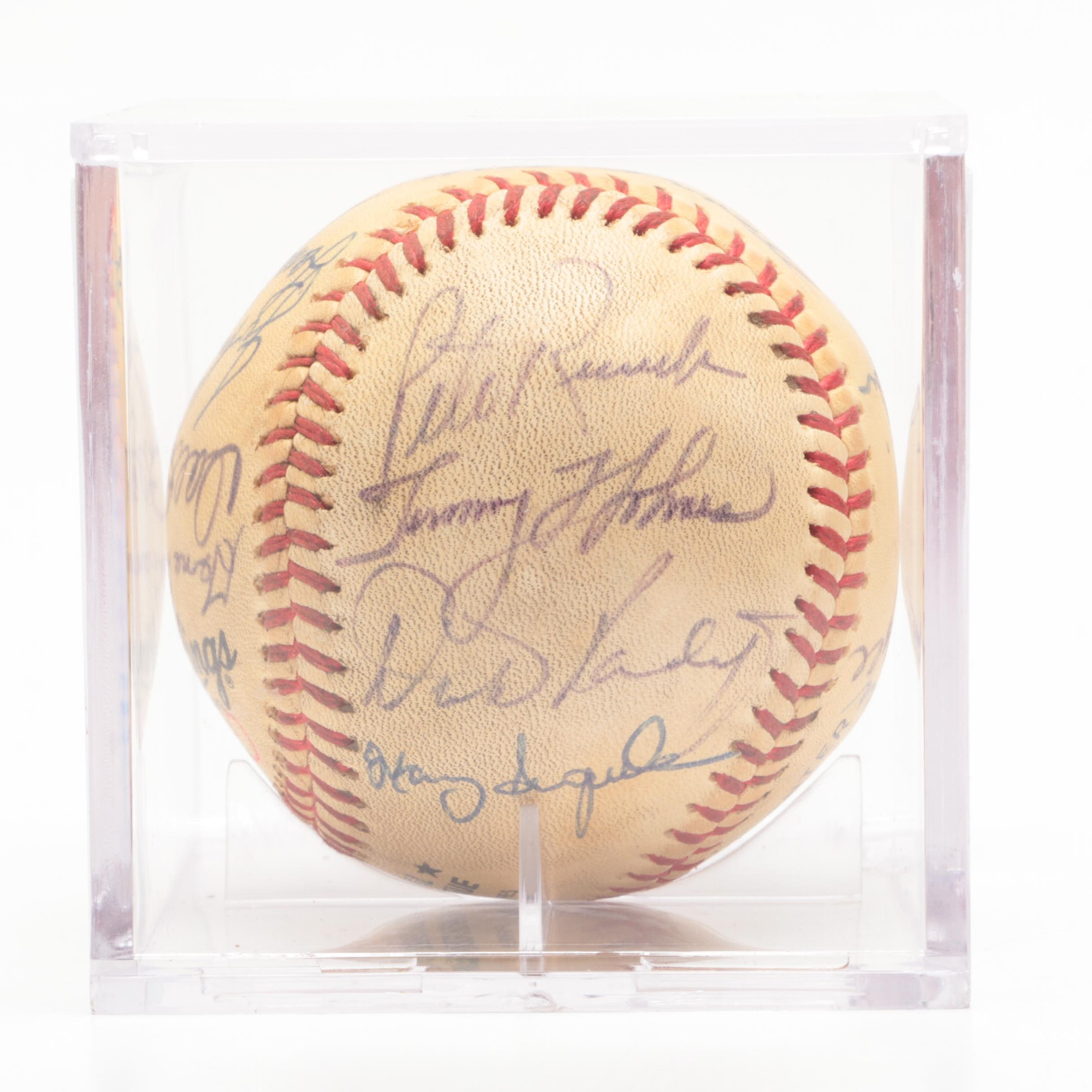 "1988 Boston Red Sox Signed ""Equitable Old-Timers"" Players Baseball"
