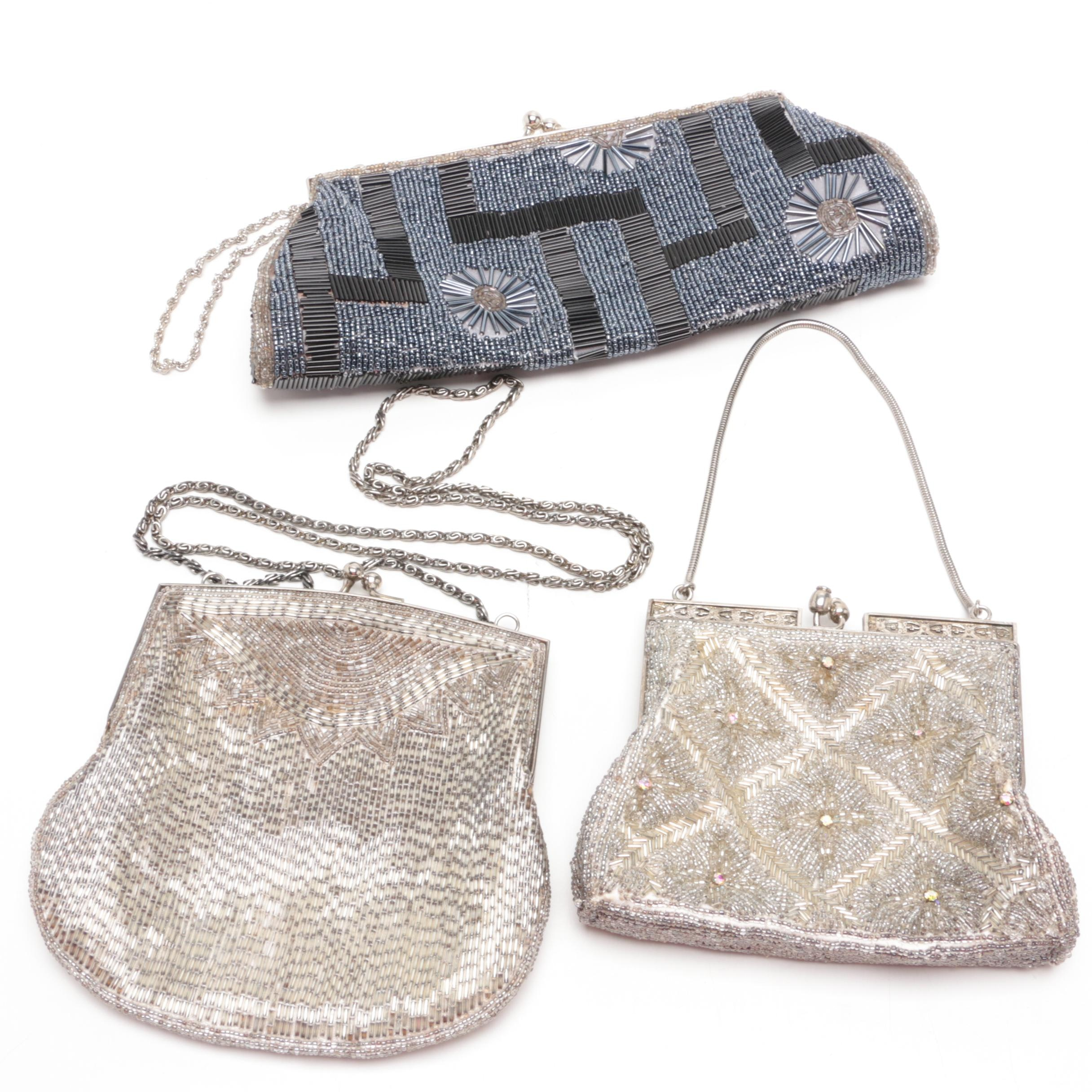 Delill Beaded Evening Bag and Other Beading Evening Bags, Vintage