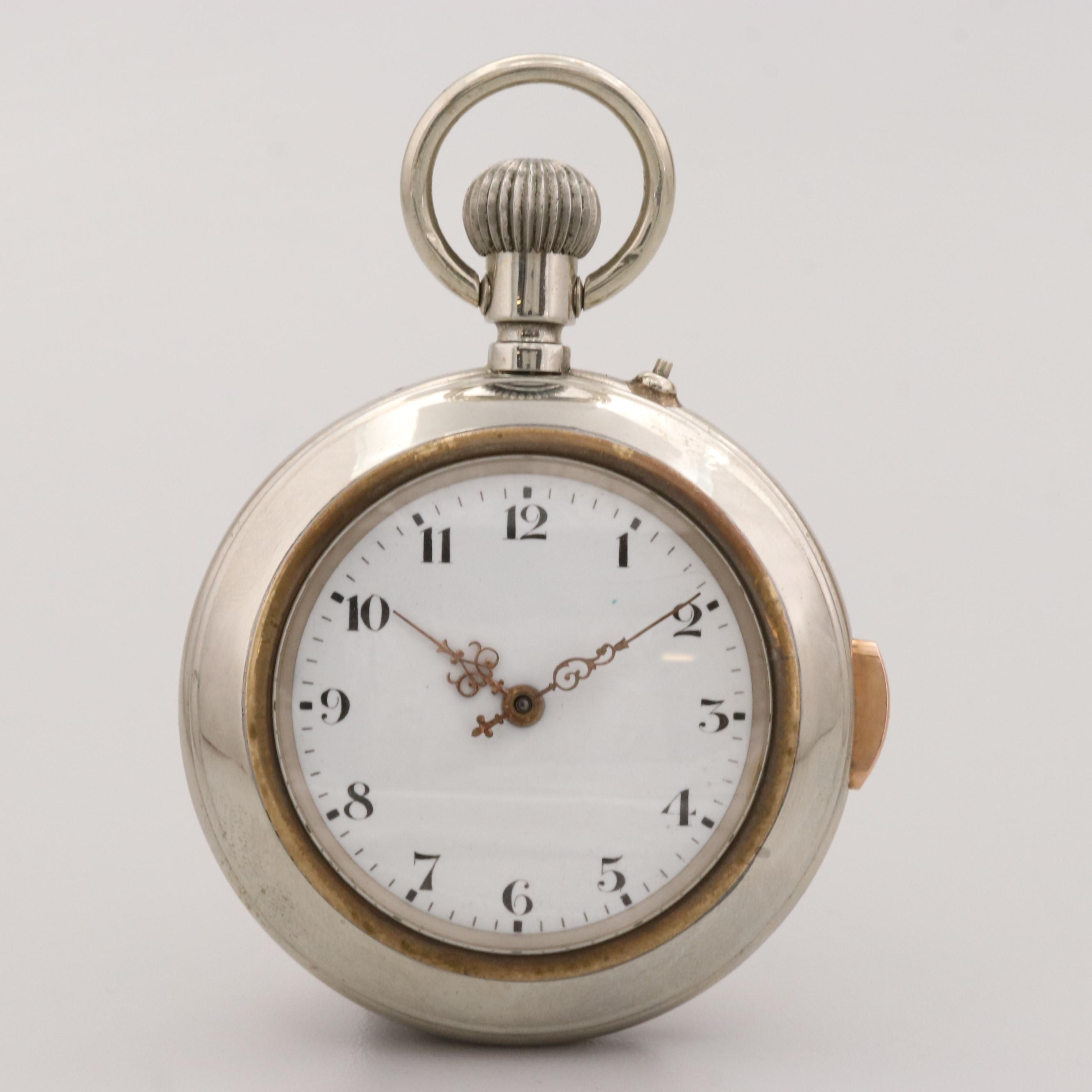 Vintage Quarter Hour Repeater Open Face Pocket Watch