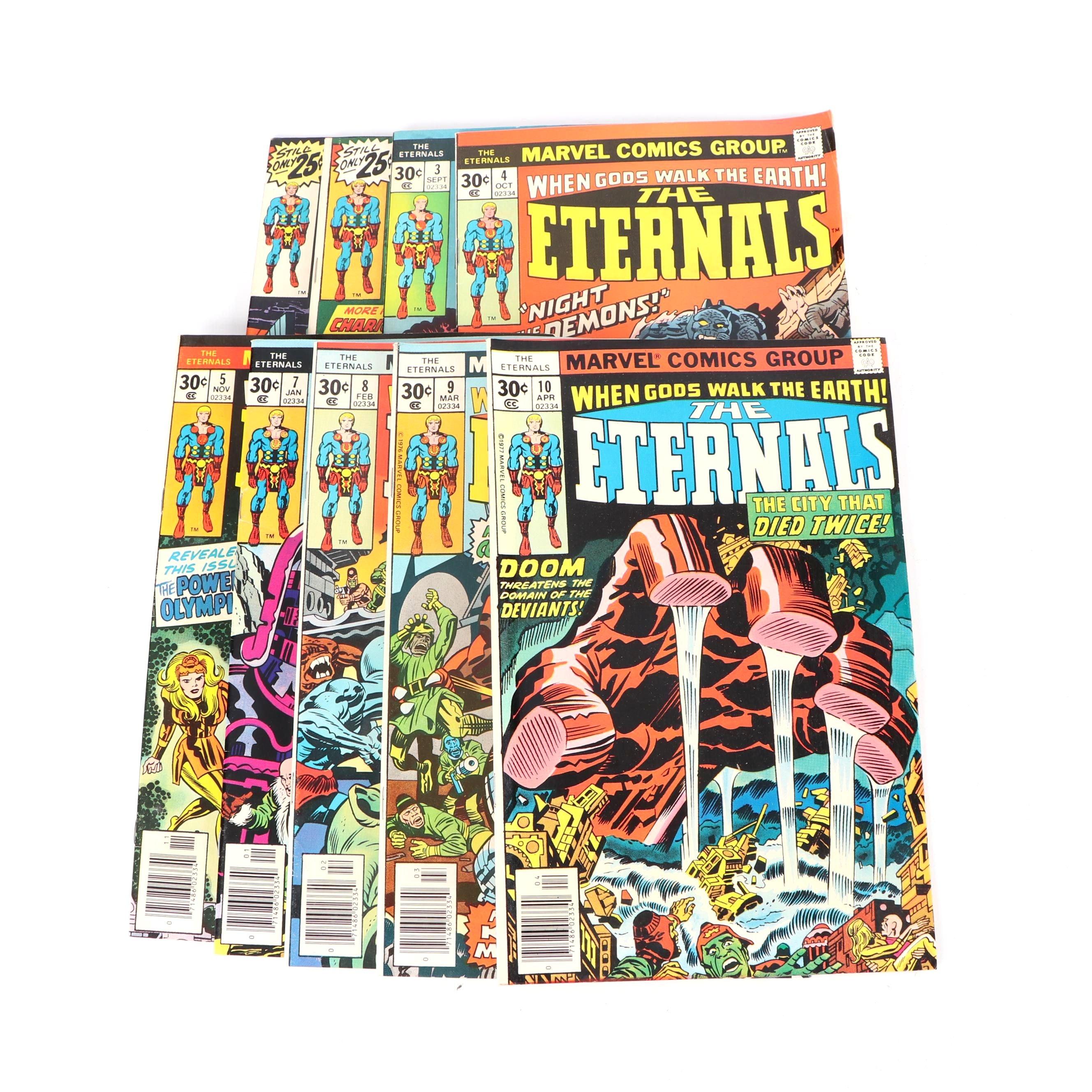 "Bronze Age Marvel Comics Group ""The Eternals"" Comic Books"