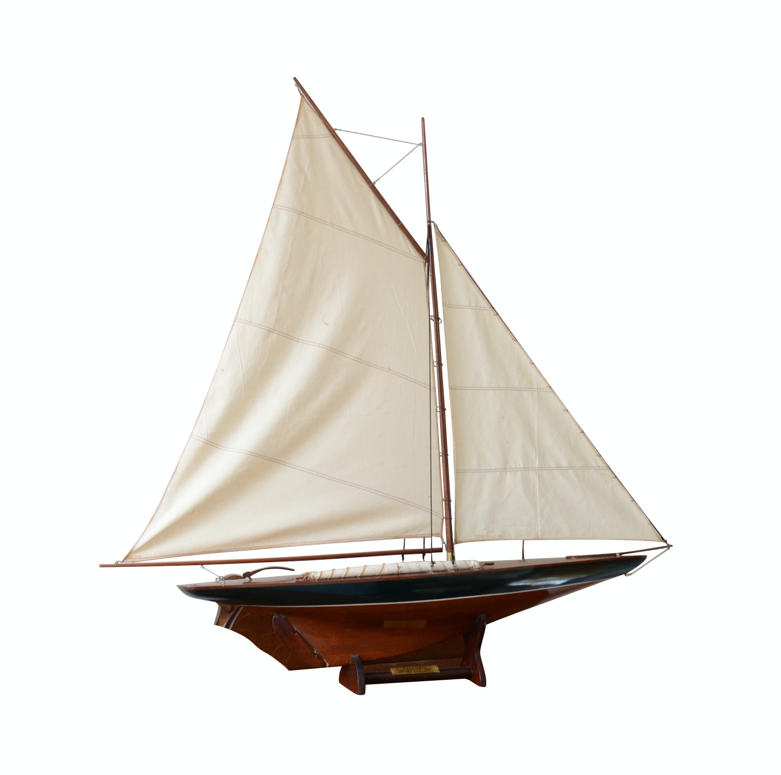 Columbia, America's Cup, 1901 Scale Model Sailboat