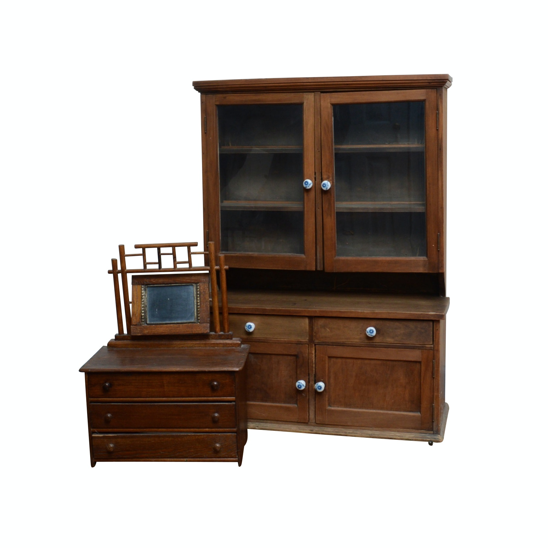 Child's China Cabinet and Gentleman's Dresser