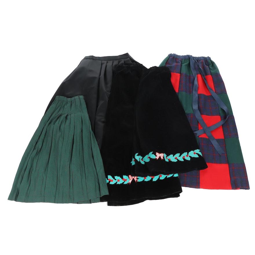 Women's Christmas and Velvet Maxi Skirts