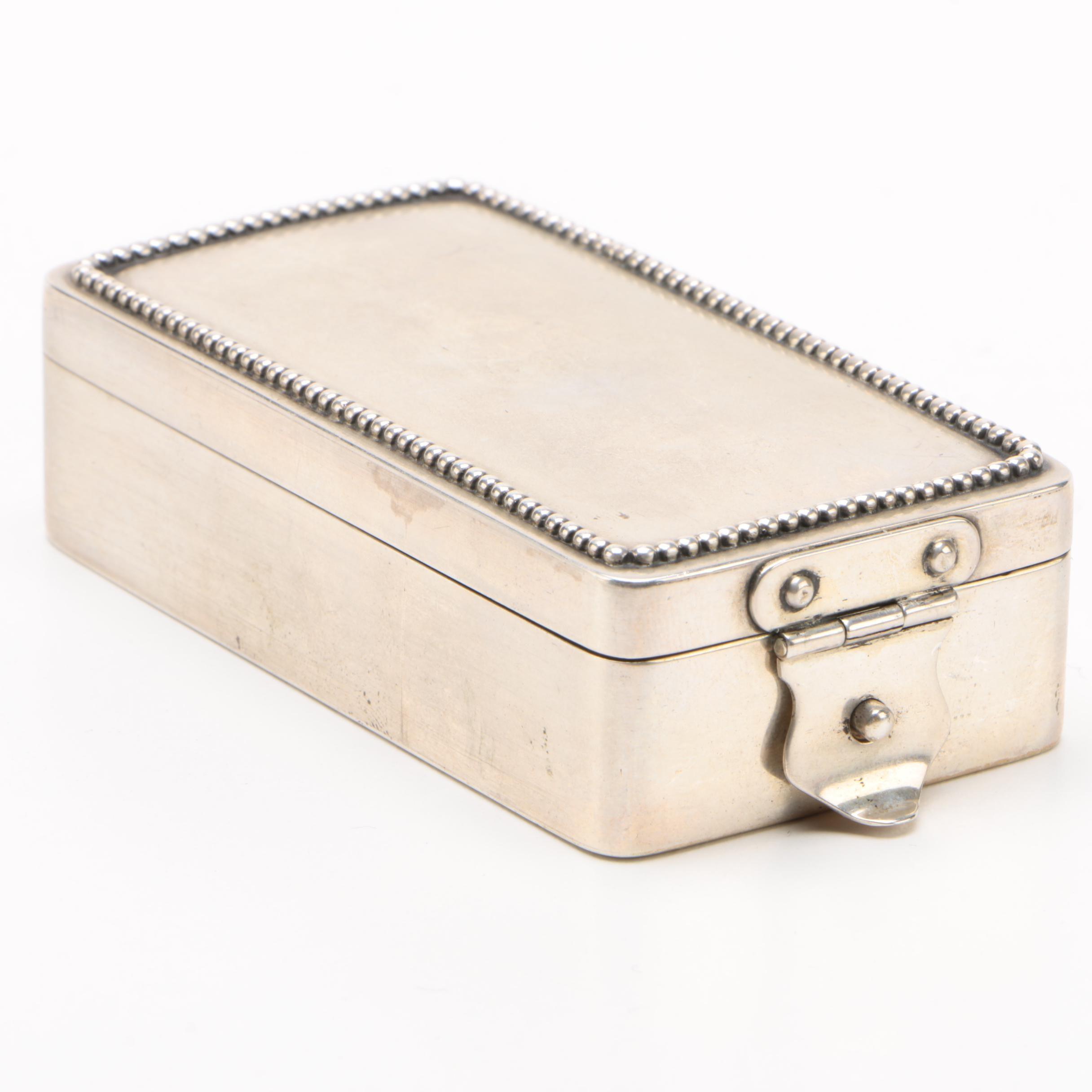 I. Paulsen of Copenhagen 825 Silver Snuff Box, 1918