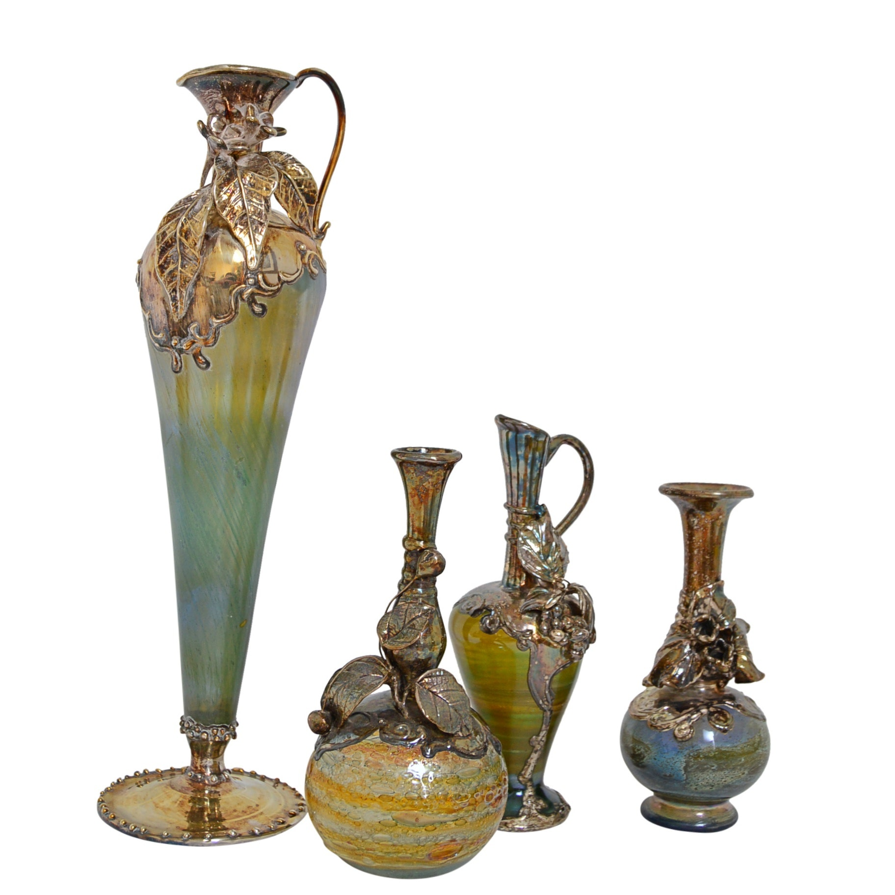 "Israeli ""King Solomon Finds"" Glass Vases and Ewers"
