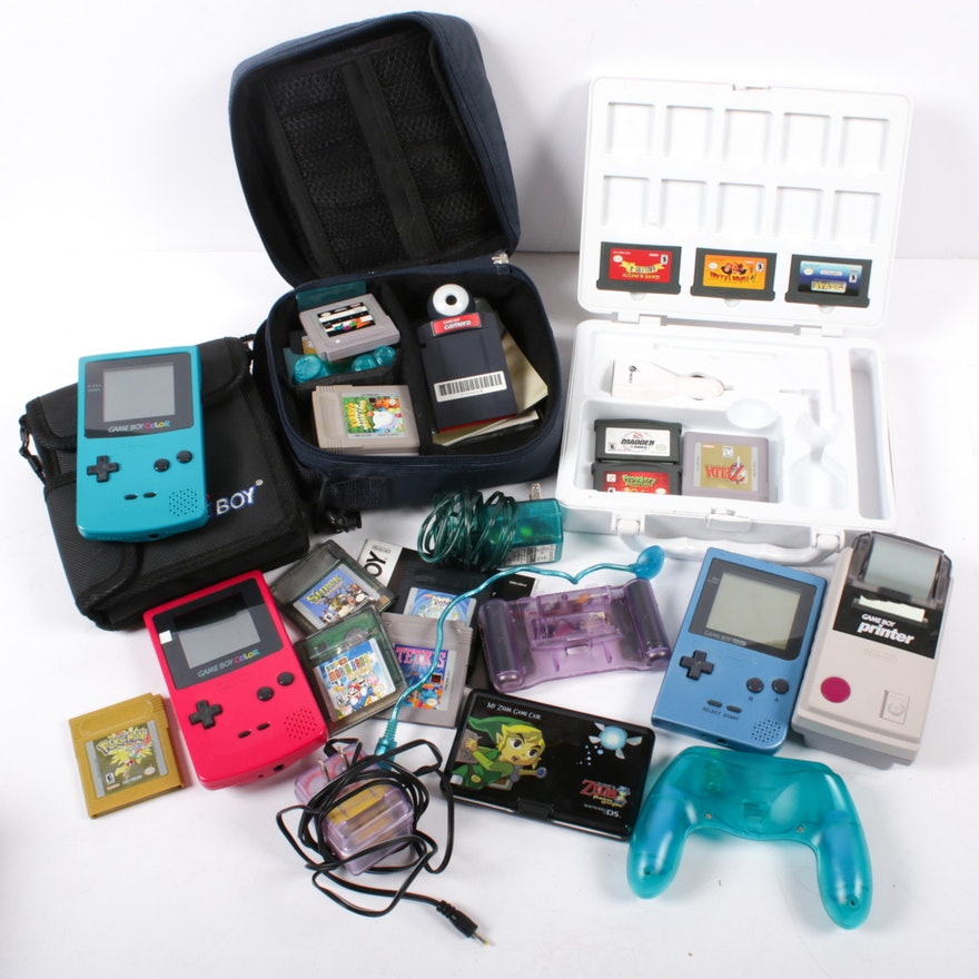 Nintendo Game Boy Color, Game Boy Pocket, Game Boy Printer, Games and More