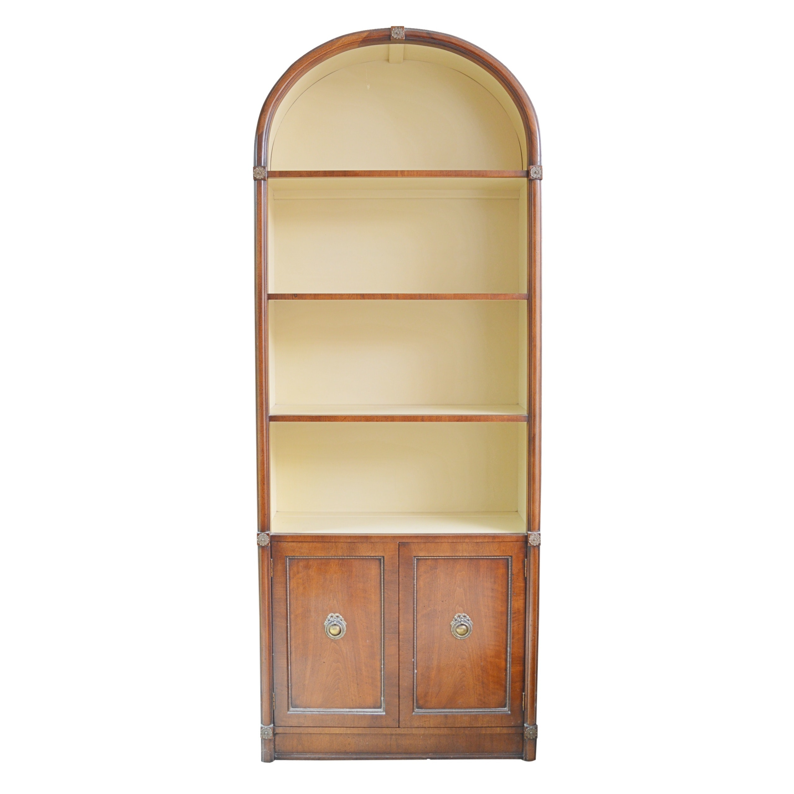 Transitional / Neoclassical Style Fruitwood Bookcase, Mid to Late 20th Century