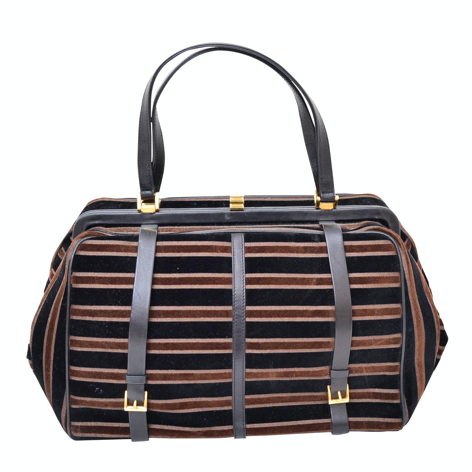 Saks Fifth Avenue Leather-Trimmed Suede Handbag