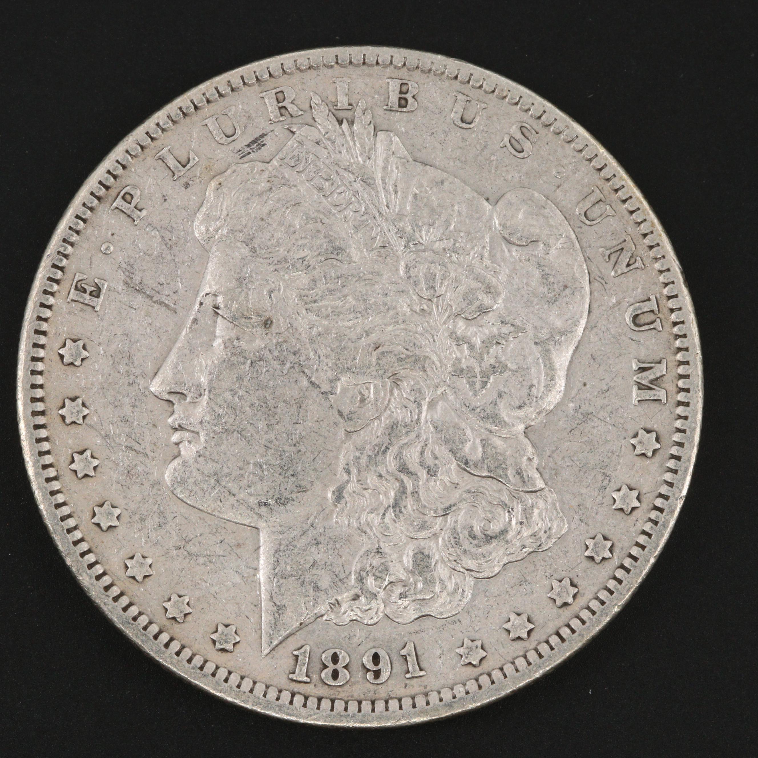 1891-O Silver Morgan Dollar