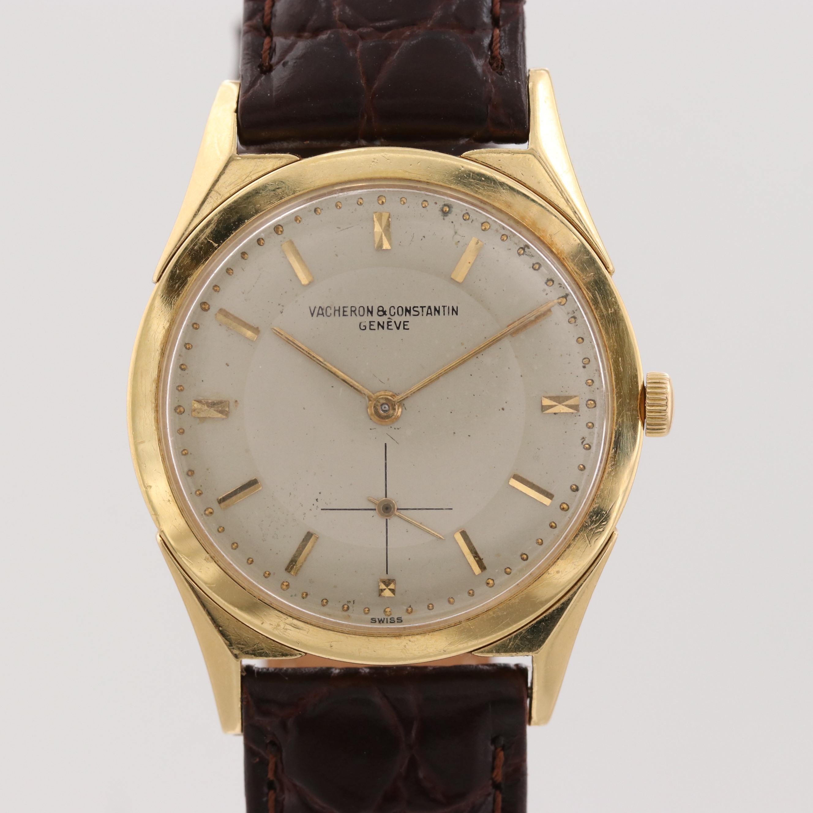 Vintage Vacheron & Constantin 6068 18K Yellow Gold Stem Wind Wristwatch