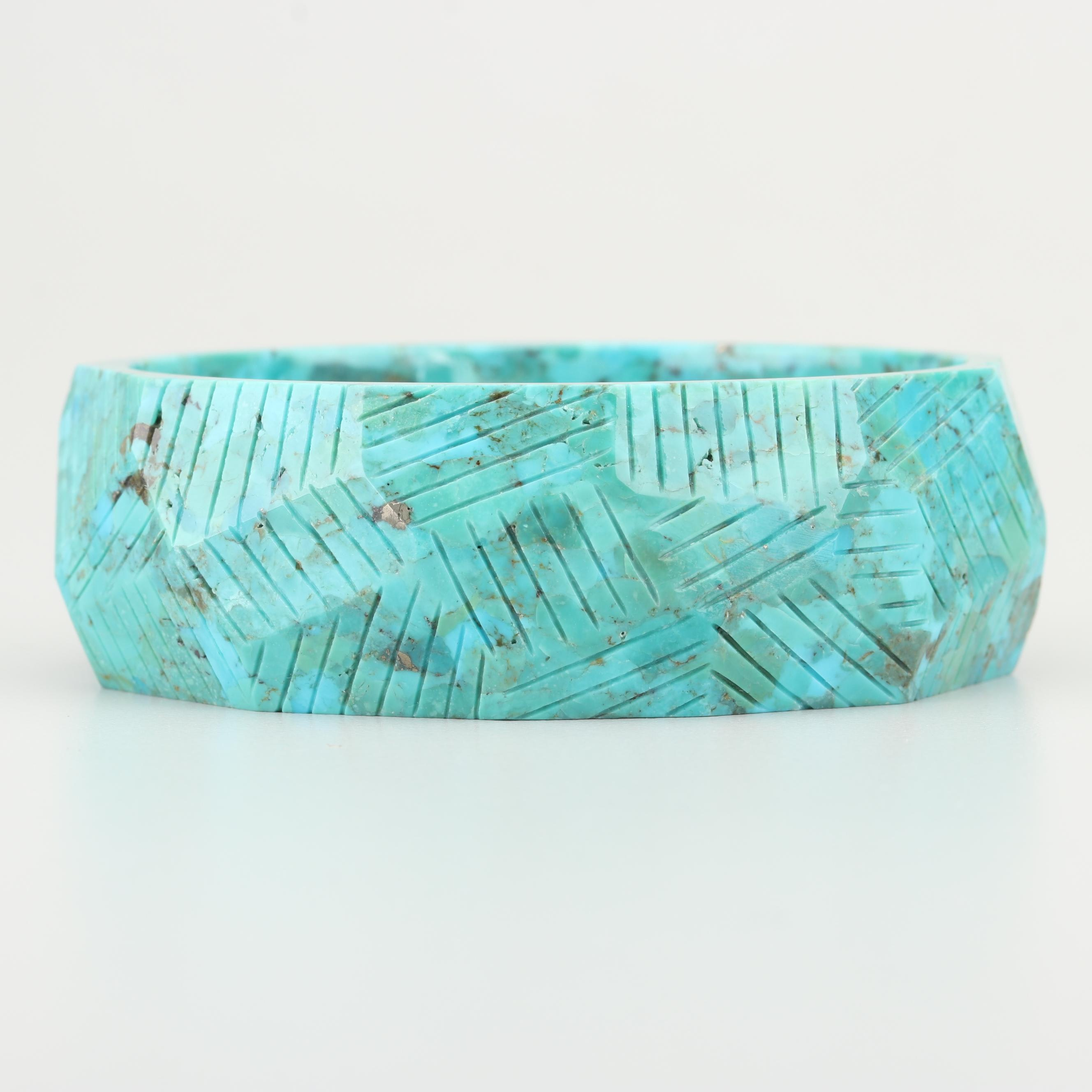 Faceted Turquoise Bangle