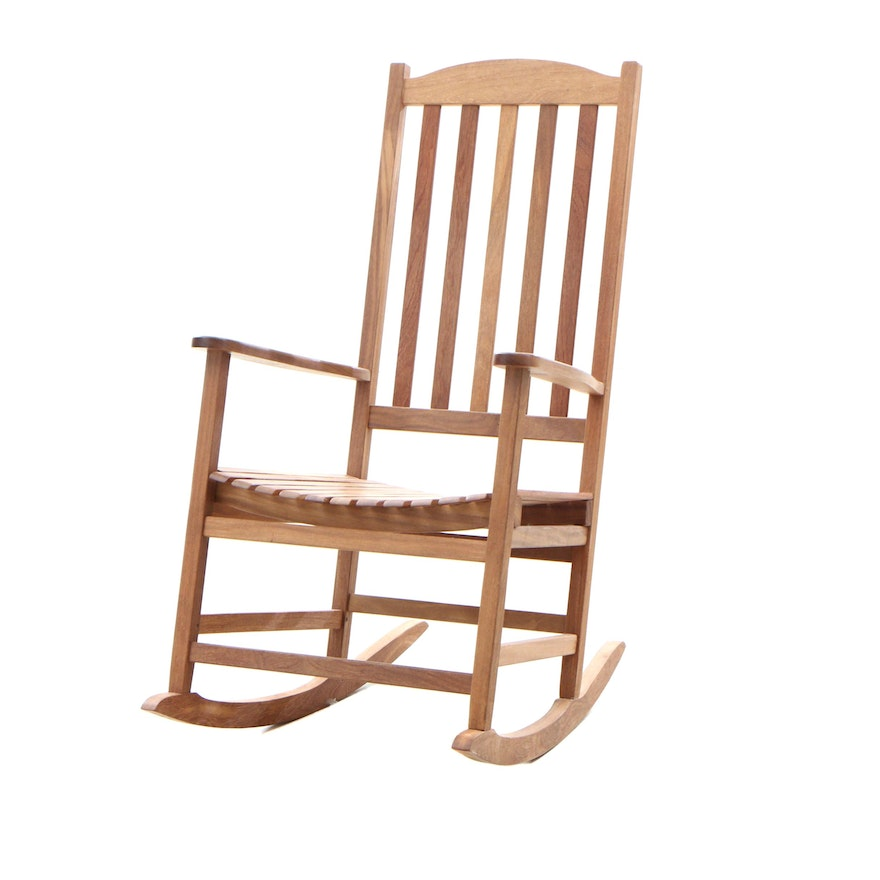 Fine Hampton Bay Natural Teak Rocking Chair Contemporary Caraccident5 Cool Chair Designs And Ideas Caraccident5Info