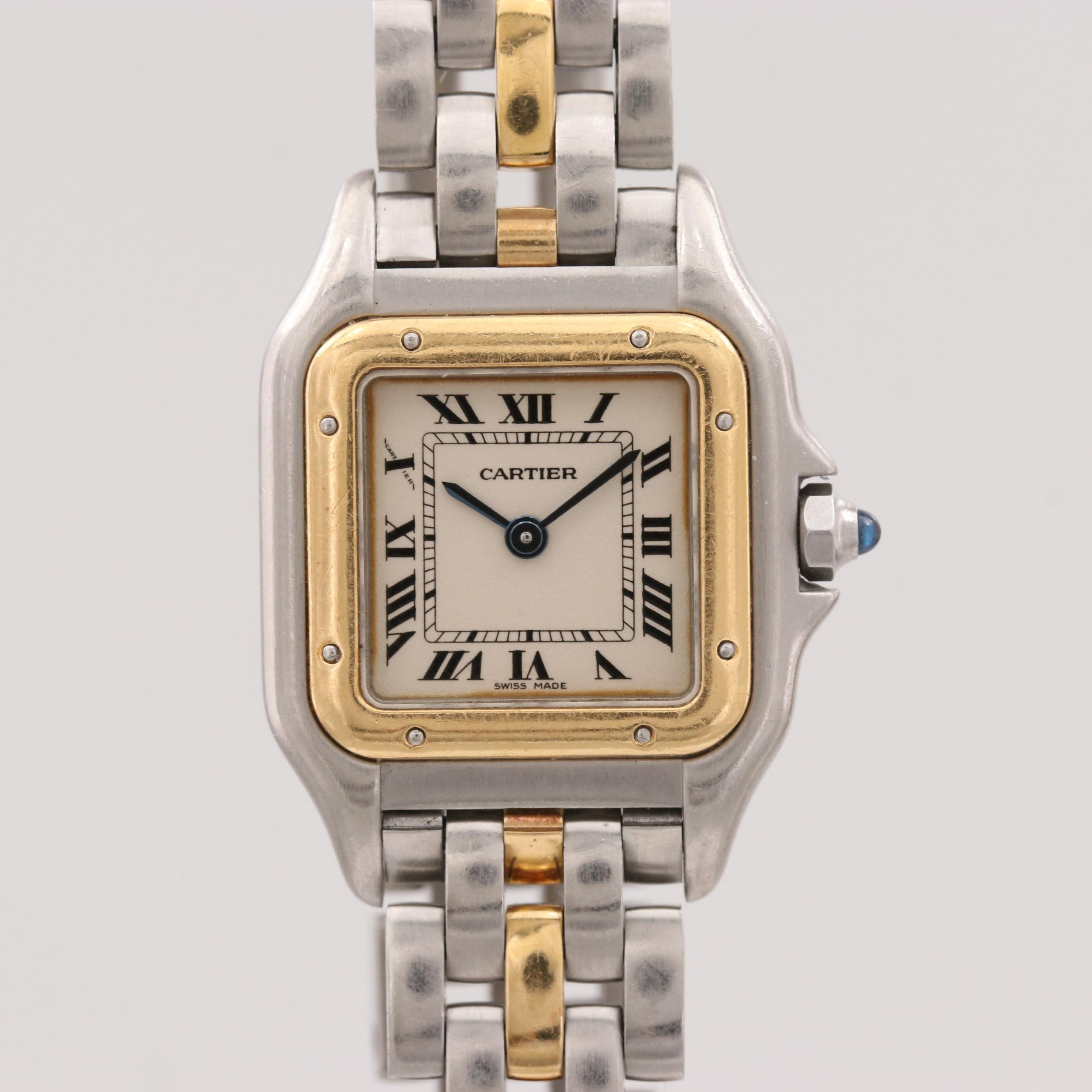 Cartier Panthère Stainless Steel and 18K Yellow Gold Quartz Wristwatch