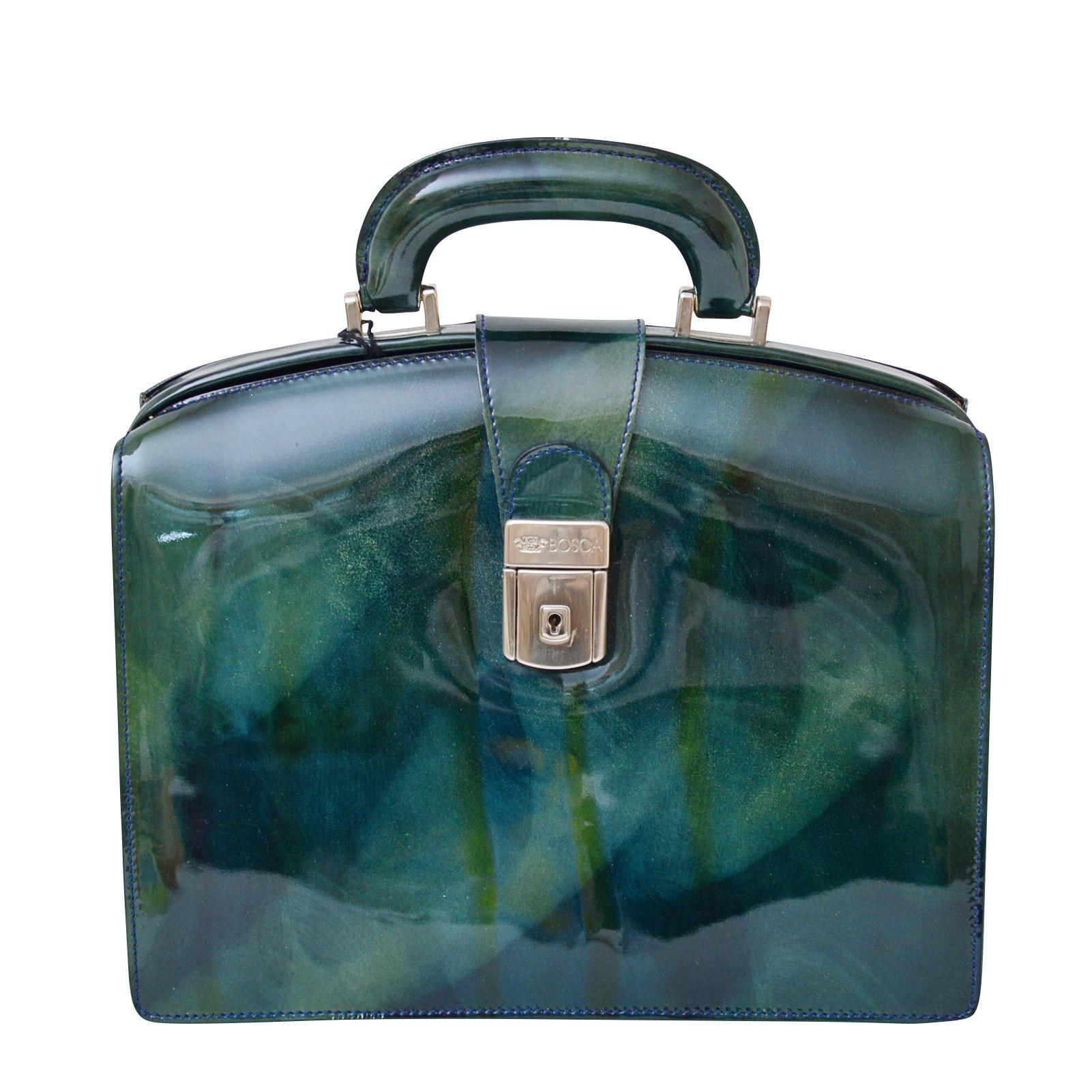 """Bosca """"Piccolo"""" Patent Leather Handbag"""