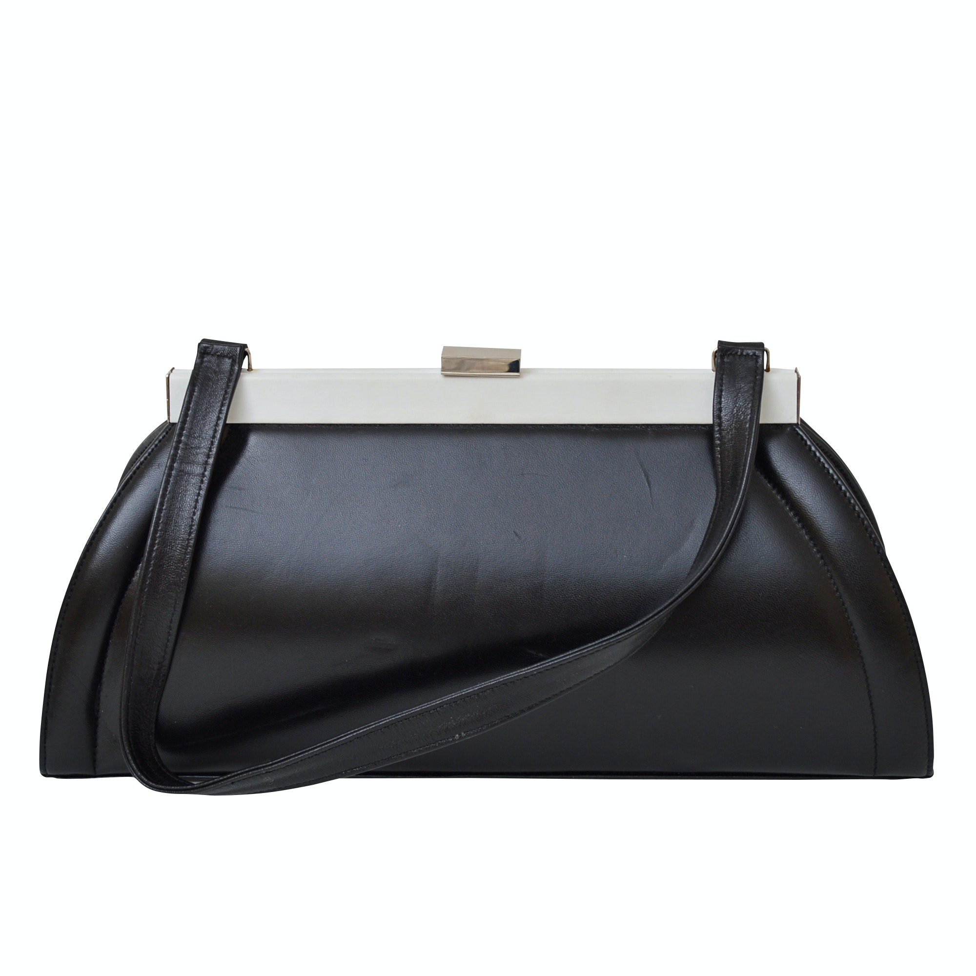 Stuart Weitzman Black Leather Handbag