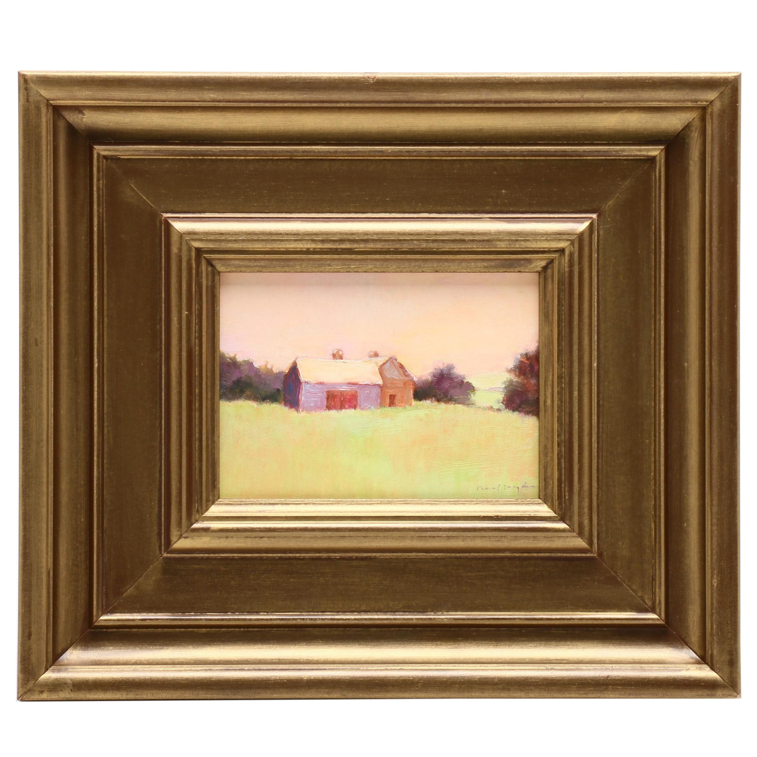 Reif Snyder Oil Painting of Pastoral Scene