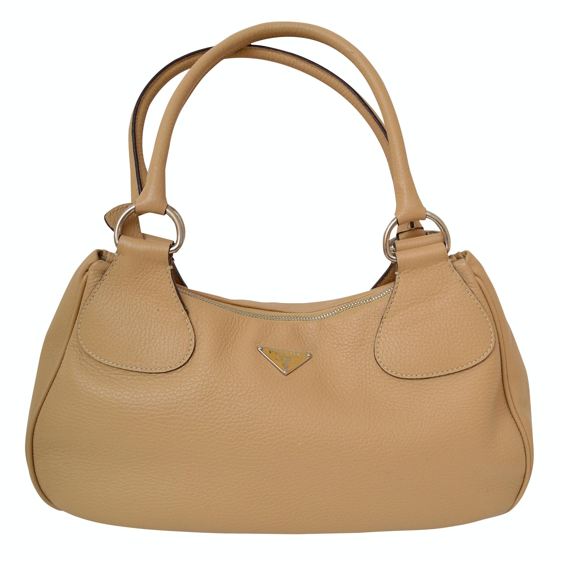 "Prada ""Semitracolla"" Leather Handbag"