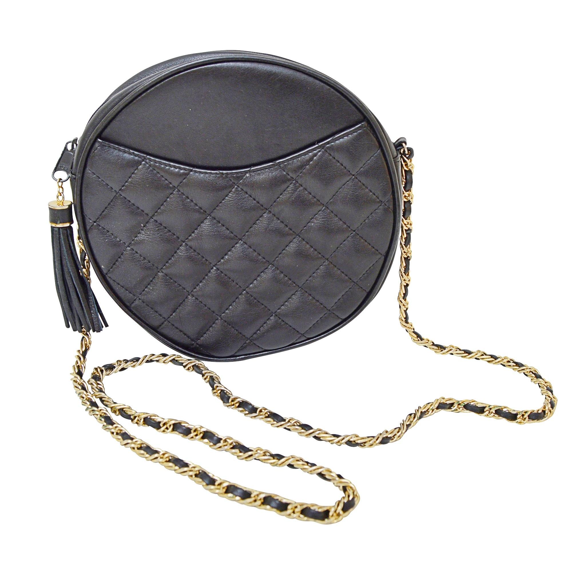 Saks Quilted Leather Shoulder Bag