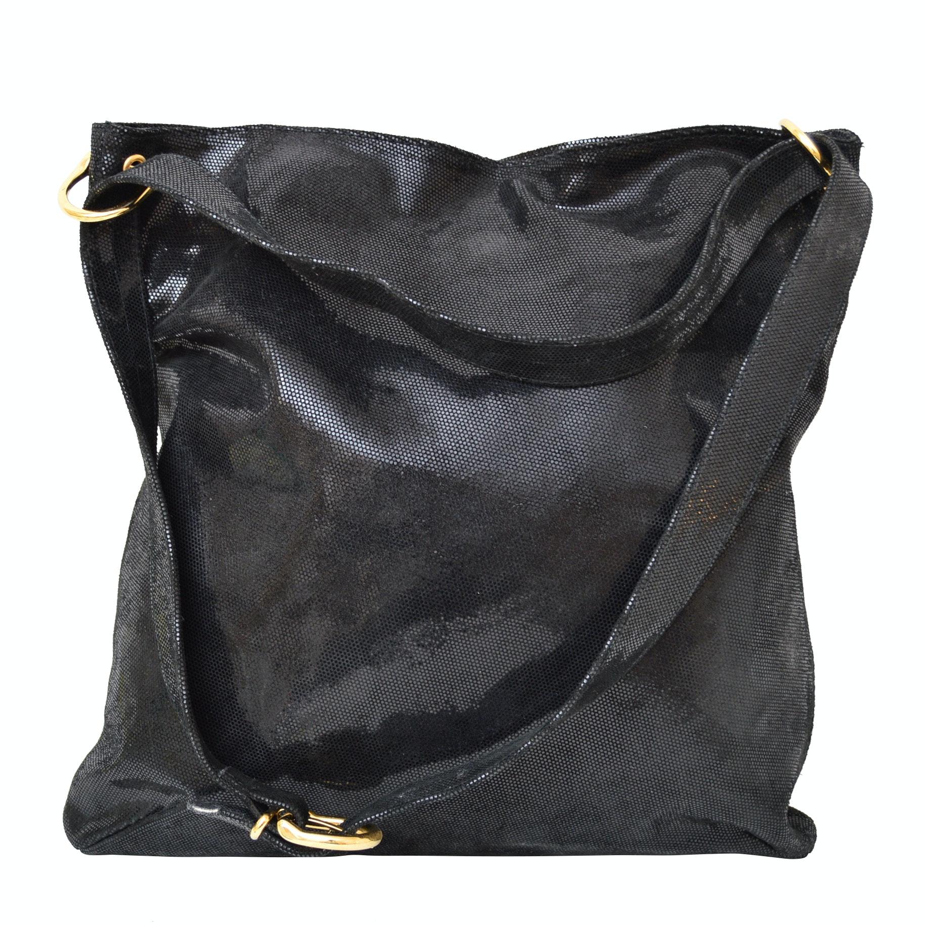 Ravasi Textured Patent Leather Tote