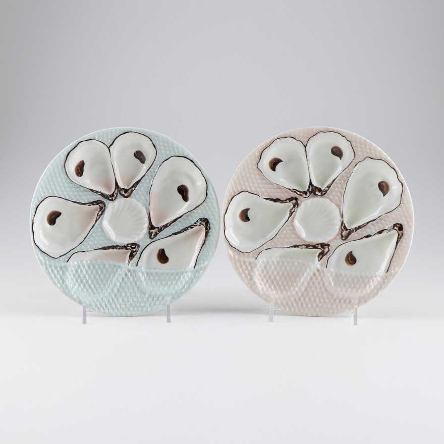 Porcelain Oyster Plates, Late 19th/ Early 20th Century
