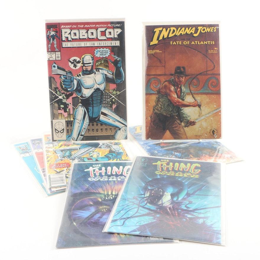 "Dark Horse and Marvel Comic Books featuring ""Indiana Jones"" and ""Robocop"""