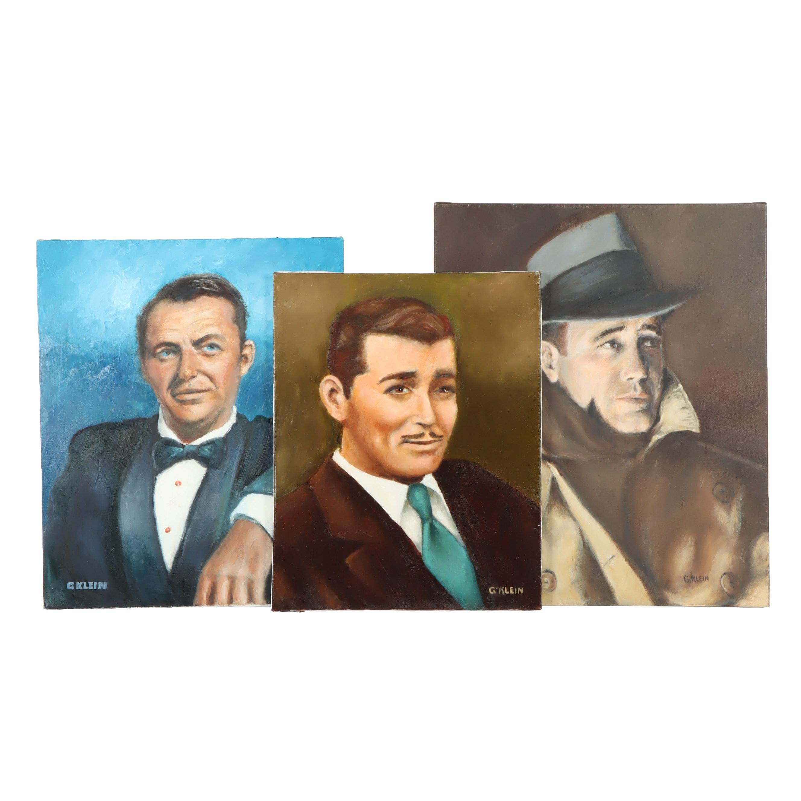 George Klein Celebrity Oil Paintings