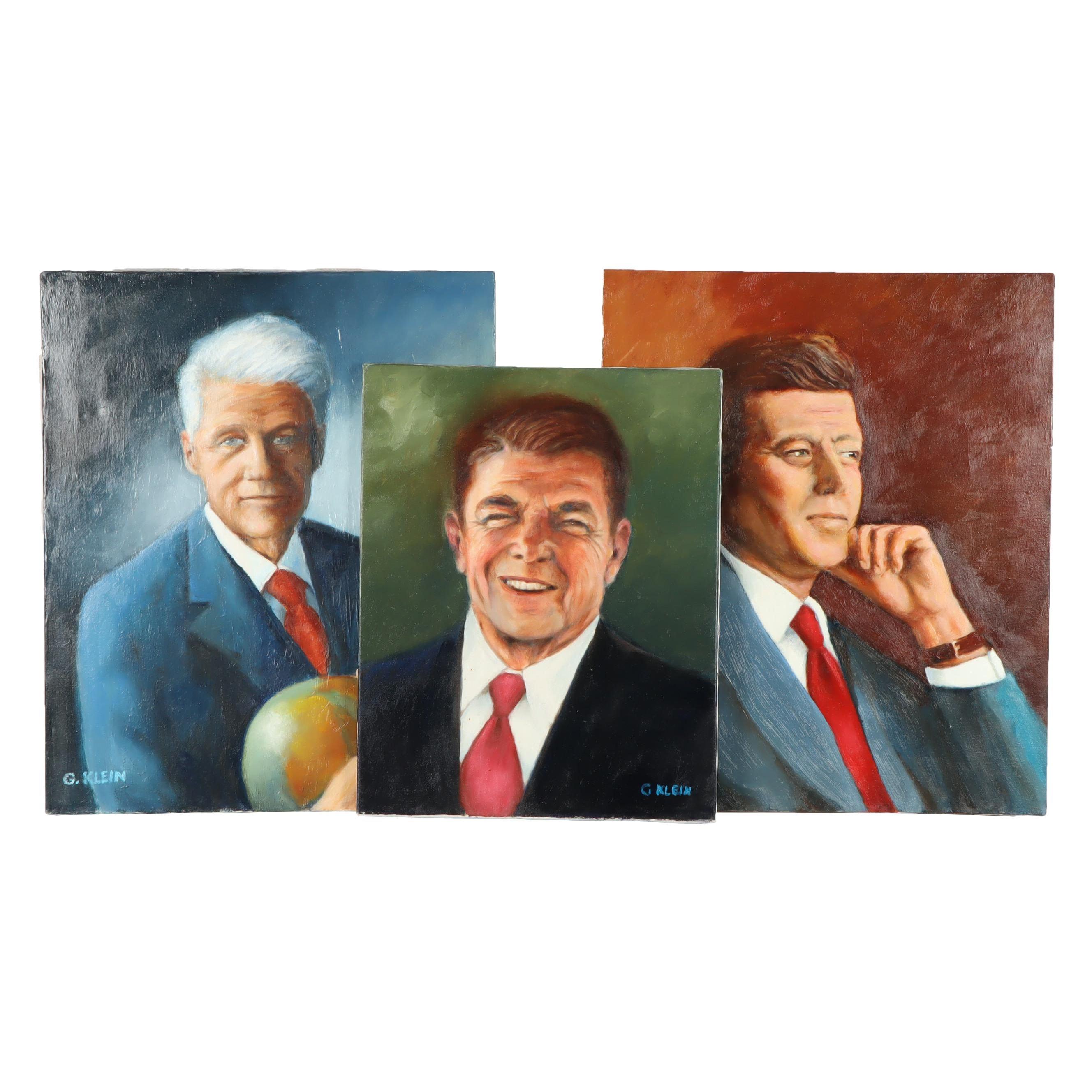 George Klein Presidential Portrait Oil Paintings