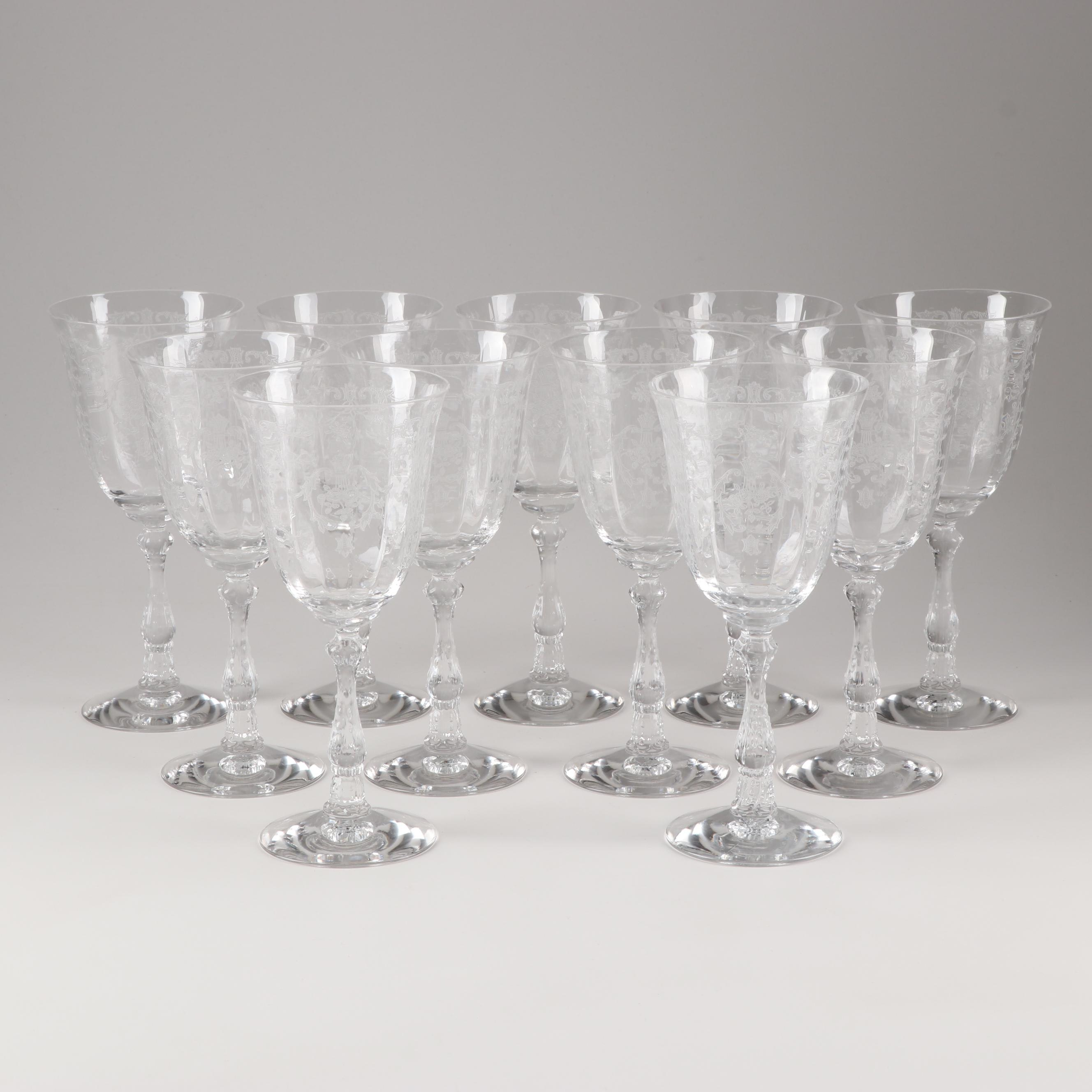 "Fostoria ""Navarre Clear"" Water Goblets"