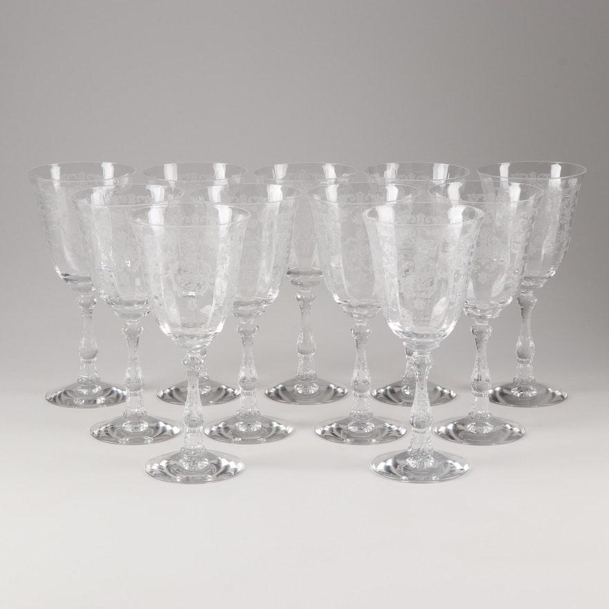 "Fostoria ""Navarre Clear"" Water Goblets"