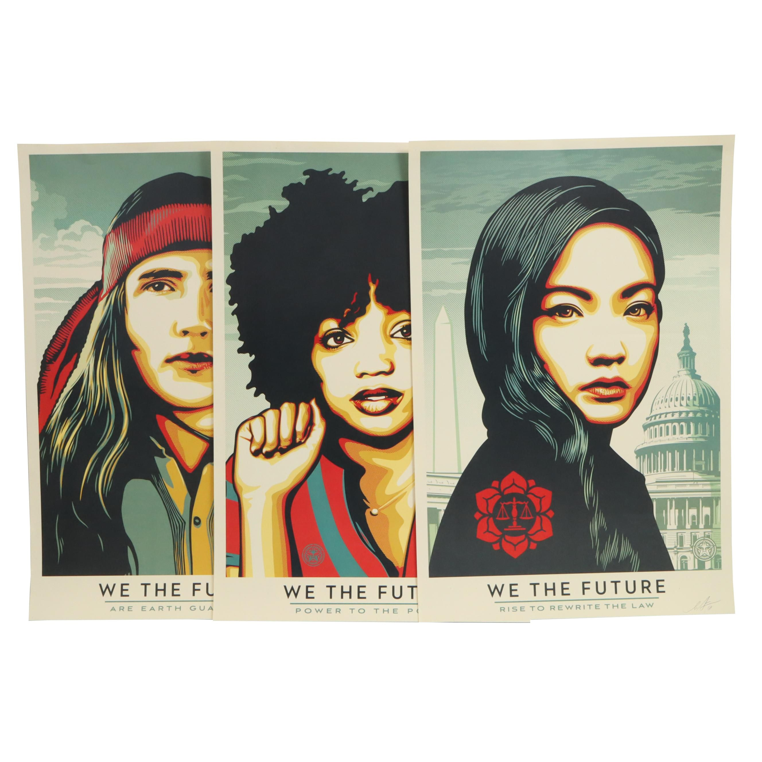 "Shepard Fairey Offset Prints ""We the Future"""