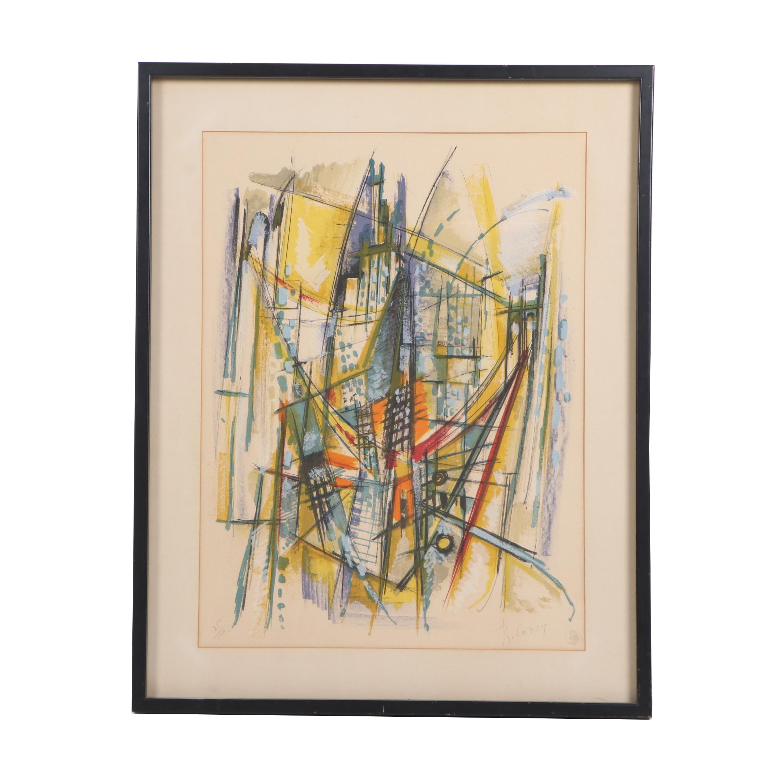 Roger Lersy Abstract Serigraph