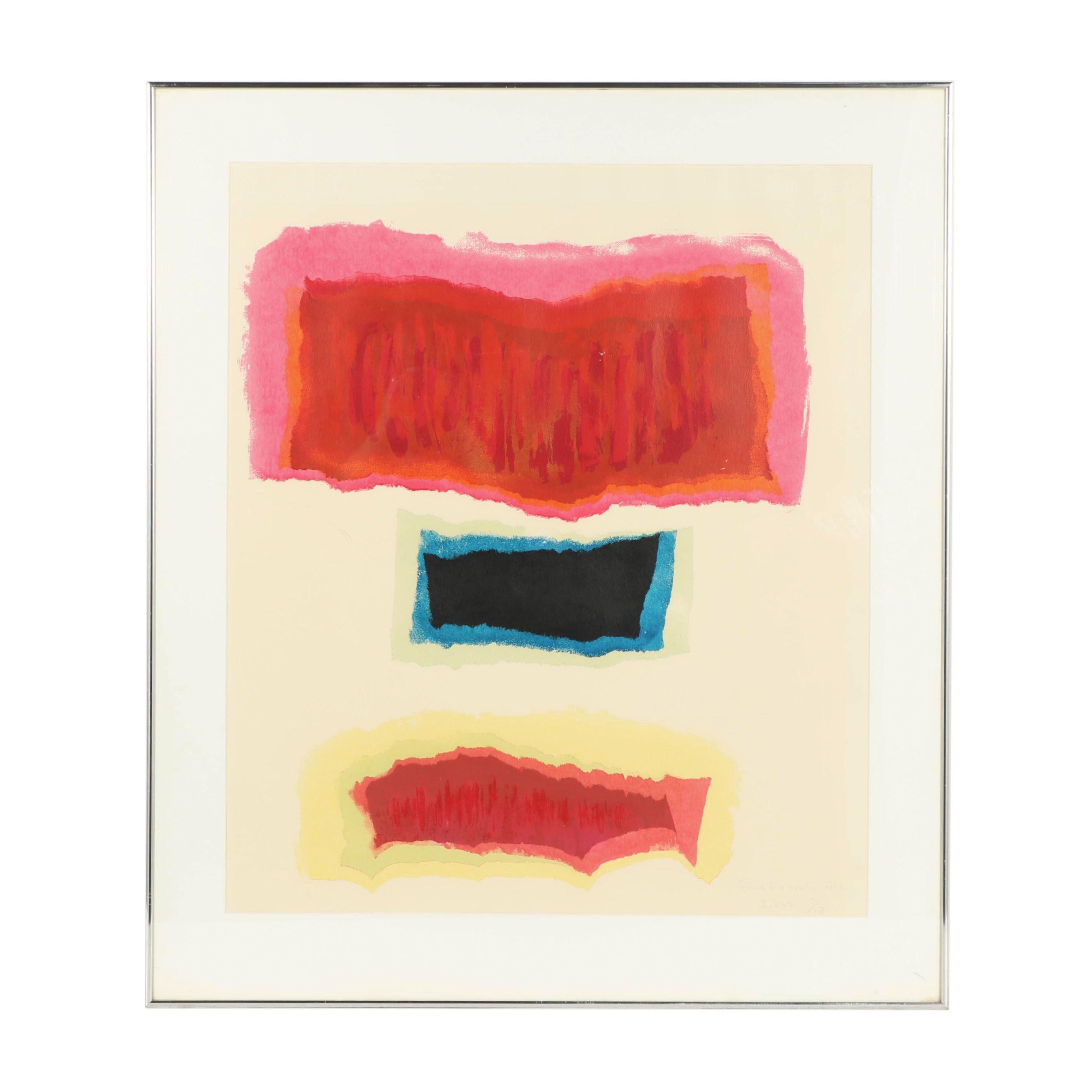 "Ivars Hirss Serigraph ""Four Elements: Fire"""