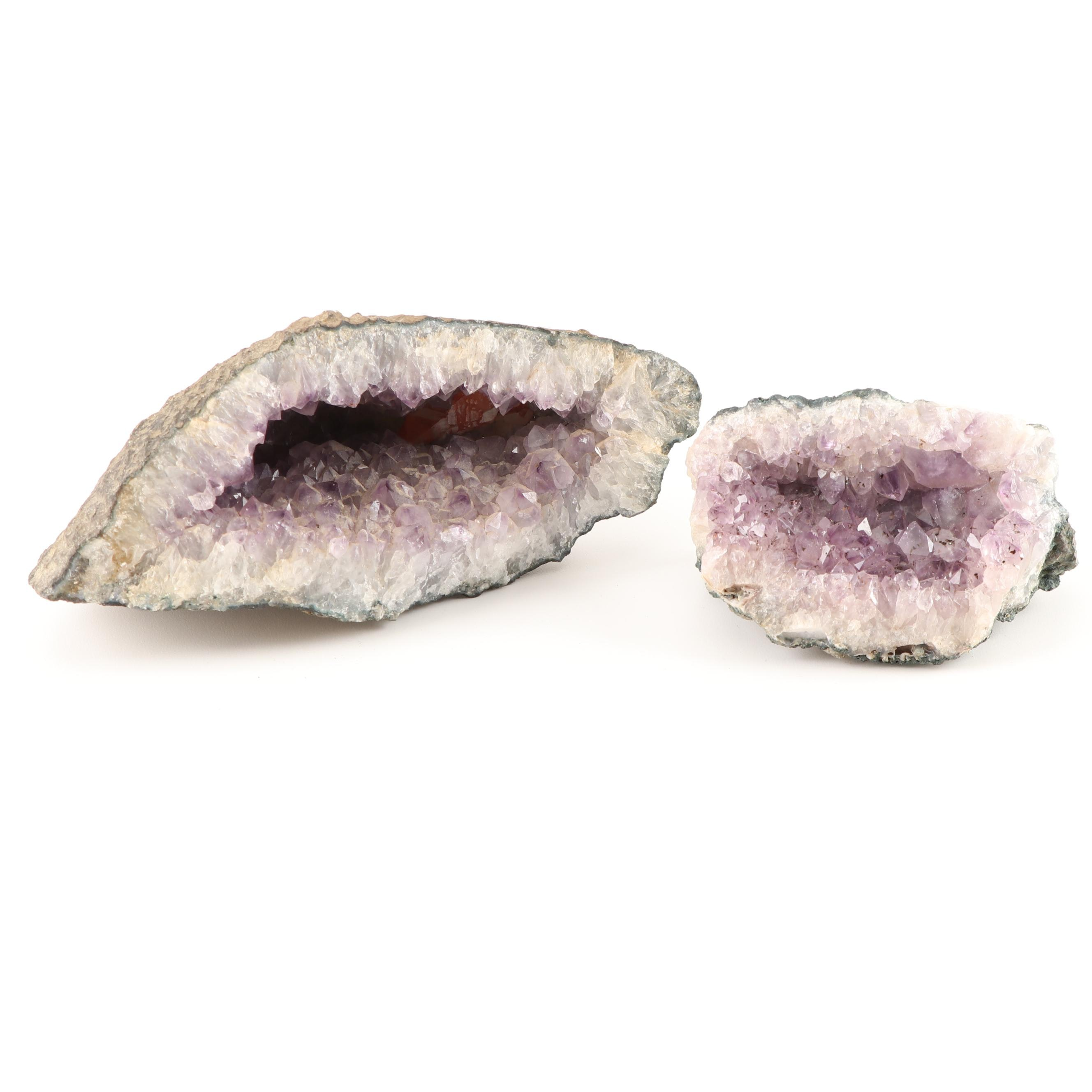 Natural Amethyst Crystal Specimen Grouping