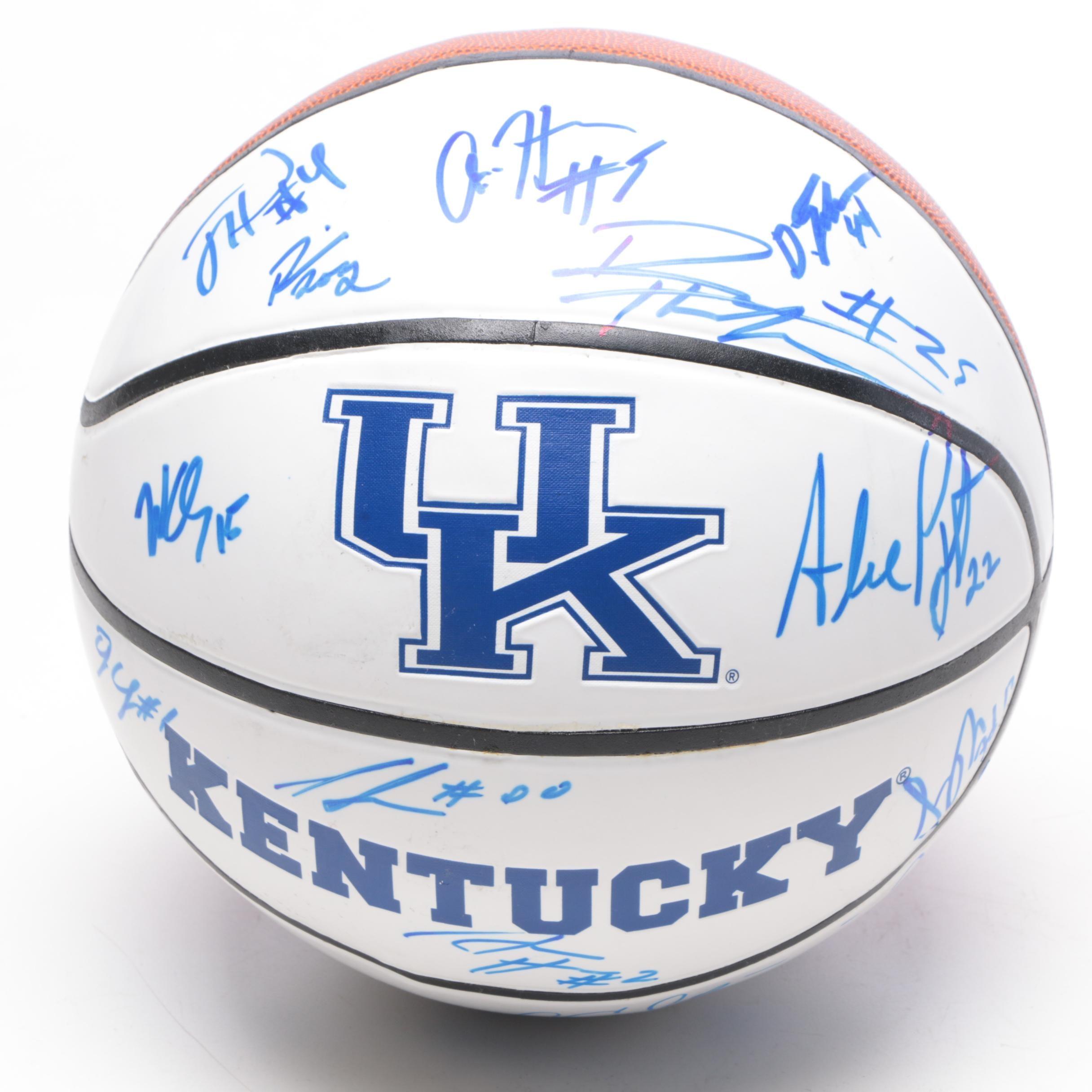 2013-14 Kentucky Wildcats Signed Basketball