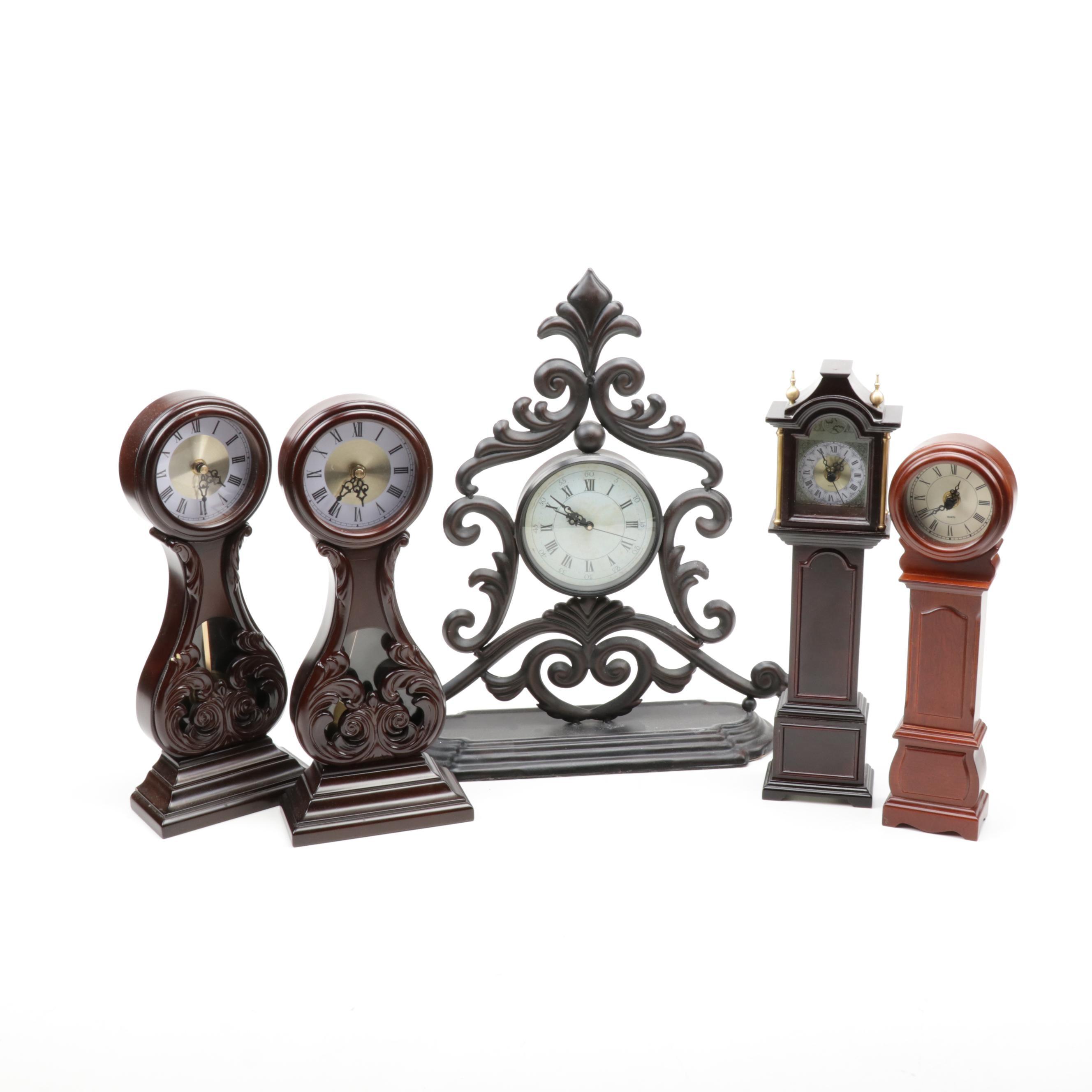 Bombay Company and More Mantel Clocks, Contemporary