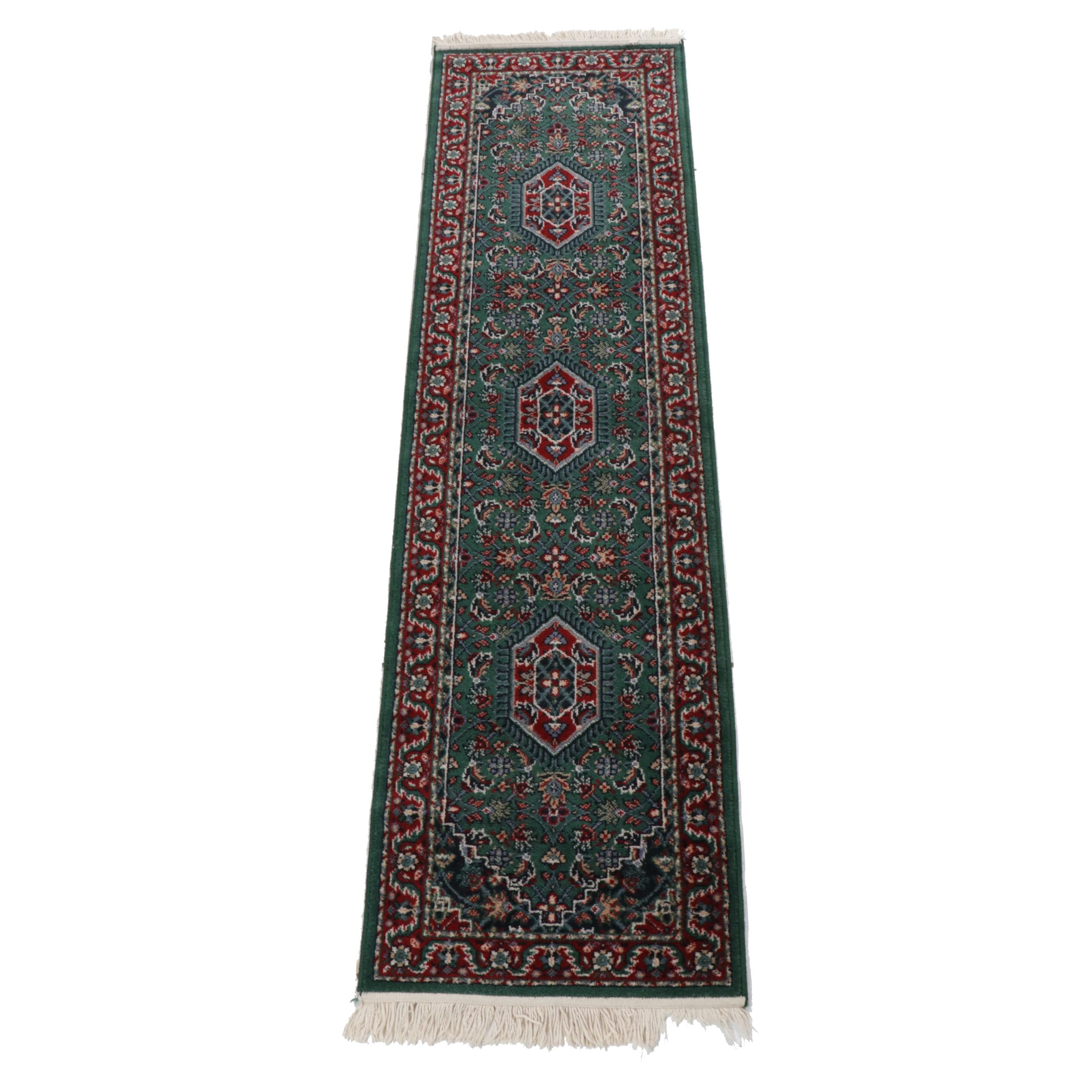 Machine Made Persian Style Wool Blend Carpet Runner