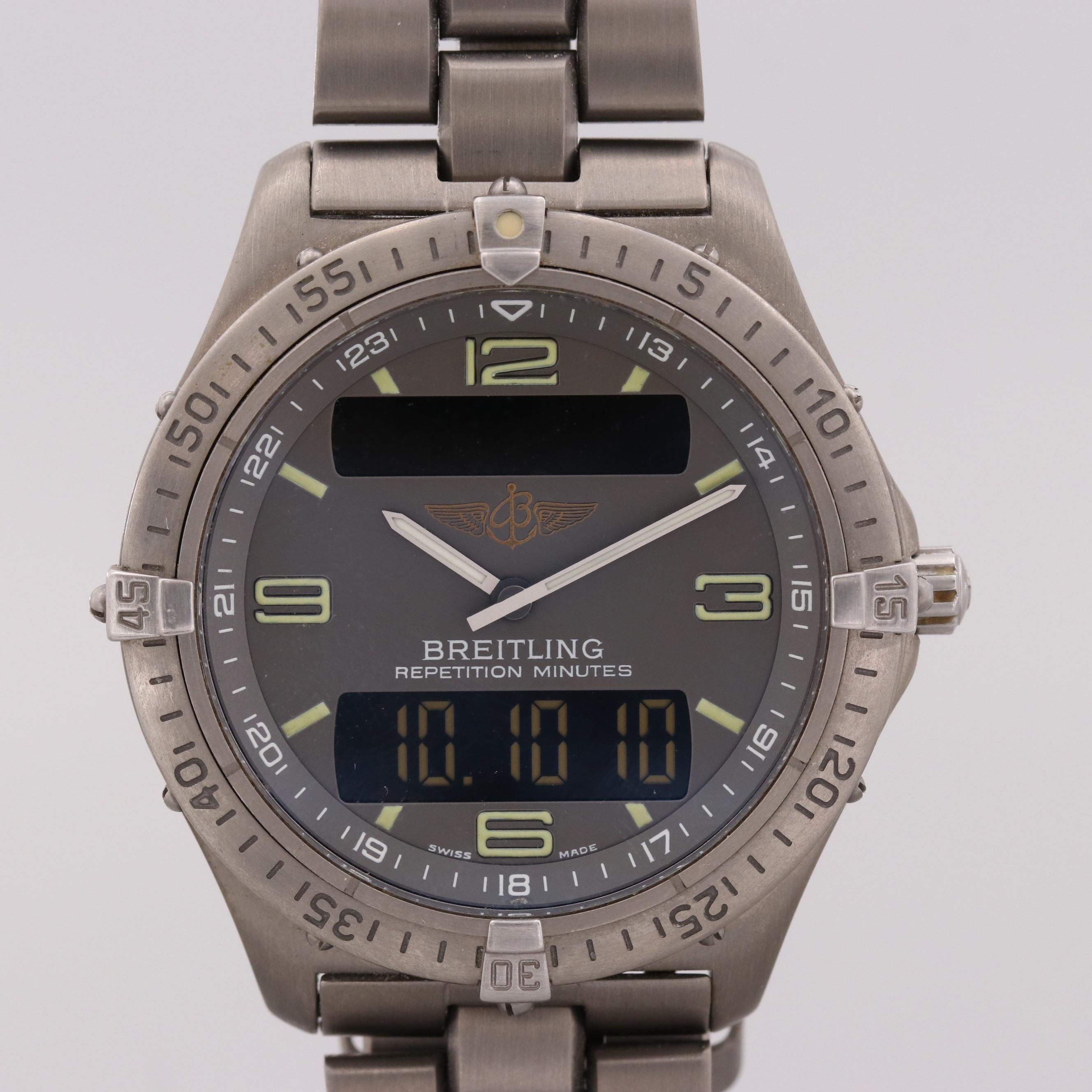 Breitling Aerospace Titanium Analog/Digital Quartz Wristwatch